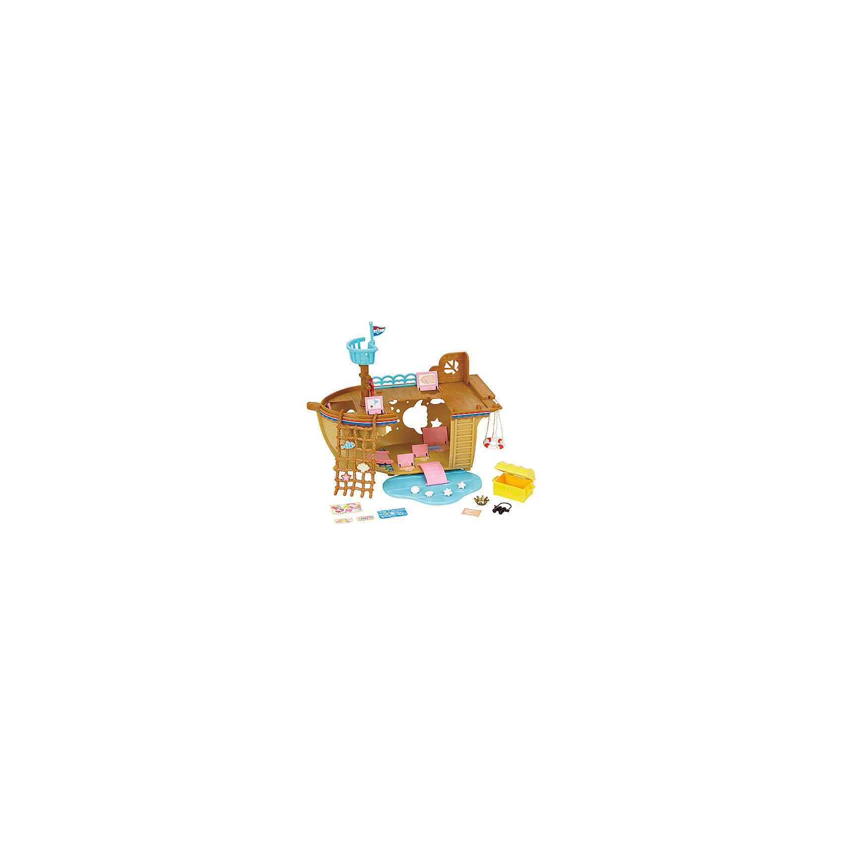 Набор Детская площадка Сокровища морей, Sylvanian FamiliesSylvanian Families<br>Sylvanian Families (Сильваниан Фэмилис) - целый мир, в котором живут маленькие милые зверята - это кролики, белки, медведи, лисы и многие другие. У каждого из них есть дом и работа. Зверята-малыши придут в восторг от этой замечательной игровой площадки! Игрушка прекрасно подходит для сюжетно-ролевых игр детей, развивает мелкую моторику и воображение малышей. Все детали набора выполнены их высококачественных, нетоксичных безопасных материалов. <br><br>Дополнительная информация:<br><br>- Комплектация: детская площадка-корабль, мачта, канат, спасательный круг, горки, сундук с сокровищами.<br>- Материал: пластик, текстиль, флок.<br><br>Набор Детская площадка Сокровища морей, Sylvanian Families (Сильваниан Фэмилис), можно купить в нашем магазине.<br><br>Ширина мм: 309<br>Глубина мм: 187<br>Высота мм: 149<br>Вес г: 617<br>Возраст от месяцев: 36<br>Возраст до месяцев: 144<br>Пол: Женский<br>Возраст: Детский<br>SKU: 4177974