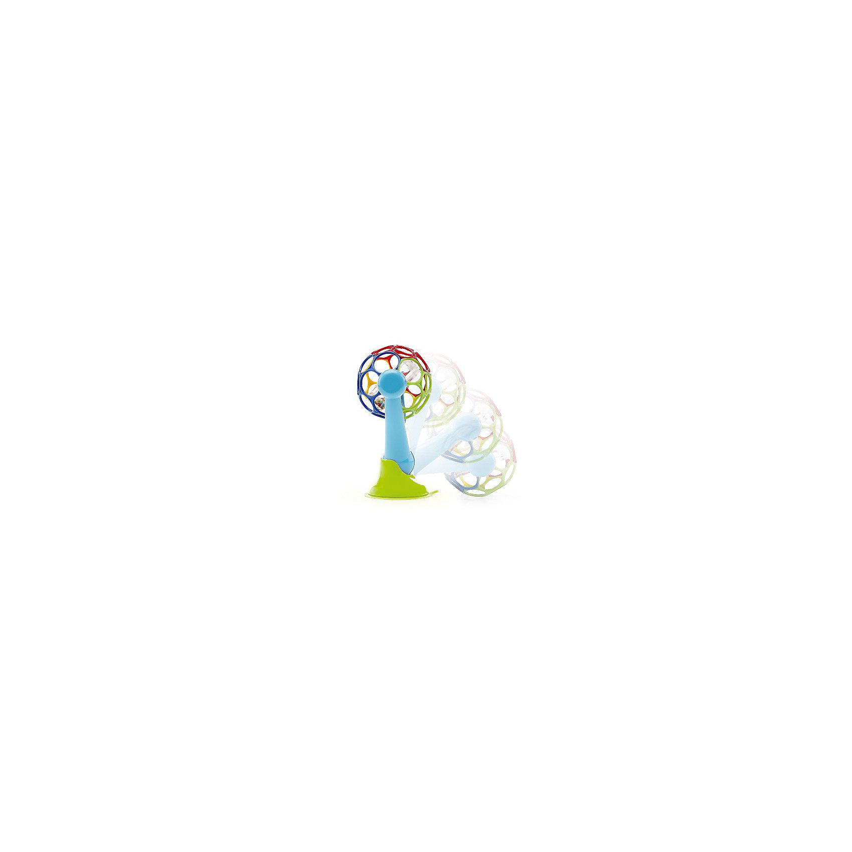 Развивающая игрушка на присоске, OballЯркая развивающая игрушка на присоске обязательно придется по вкусу малышам! Благодаря надежной присоске игрушка хорошо крепится к любой поверхности. Ребенок может крутить мячик, наклонять его, даже пробовать на вкус: игрушка сделана из качественных материалов и они абсолютно безопасны для здоровья малыша. Яркие цвета и необычная форма устройства развивают воображение ребенка, его мелкую моторику, скорость реакции и просто поднимают настроение вашего крохи.<br><br>Дополнительная информация:<br><br>- Материал: пластик.<br>- Размер: 13х10х18 см.<br><br>Развивающую игрушку на присоске, Oball, можно купить в нашем магазине.<br><br>Ширина мм: 325<br>Глубина мм: 152<br>Высота мм: 96<br>Вес г: 166<br>Возраст от месяцев: 3<br>Возраст до месяцев: 24<br>Пол: Унисекс<br>Возраст: Детский<br>SKU: 4177980
