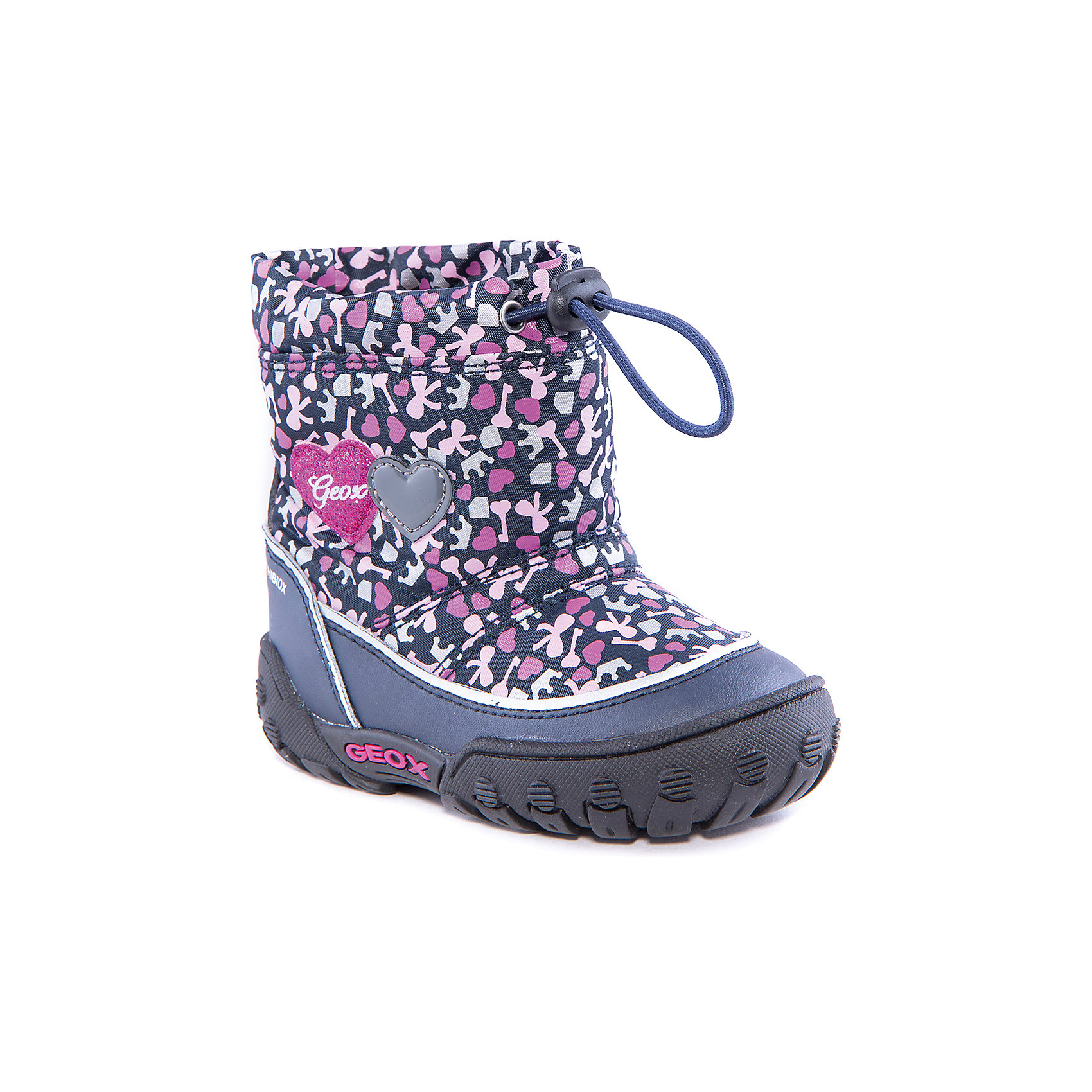Полусапожки для девочки GEOXПолусапожки для девочки от популярной марки GEOX.<br><br>Симпатичные полусапожки сделаны по уникальной технологии. <br>Производитель обуви GEOX разработал специальную дышащую подошву, которая не пропускает влагу внутрь, а также высокотехнологичную стельку. При производстве этих полусапожек была задействована технология Amphibiox, делающая обувь непромокаемой. <br><br>Отличительные особенности модели:<br><br>- цвет: темно-синий, розовый;<br>- украшены принтом: сердечки;<br>- гибкая водоотталкивающая подошва с дышащей мембраной;<br>- утепленная стелька;<br>- мягкий и легкий верх;<br>- защита пятки и пальцев;<br>- эргономичная форма;<br>- удобная утяжка на голенище;<br>- комфортное облегание;<br>- ударопрочная антибактериальная стелька;<br>- защита от промокания - технология Amphibiox;<br>- верх обуви и подкладка сделаны без использования хрома.<br><br>Дополнительная информация:<br><br>- Температурный режим: от - 20° С  до -5° С.<br><br>- Состав:<br><br>материал верха: синтетический материал, текстиль<br>материал подкладки: текстиль<br>подошва: полимер.<br><br>Полусапожки для девочки GEOX (Геокс) можно купить в нашем магазине.<br><br>Ширина мм: 257<br>Глубина мм: 180<br>Высота мм: 130<br>Вес г: 420<br>Цвет: синий<br>Возраст от месяцев: 24<br>Возраст до месяцев: 24<br>Пол: Женский<br>Возраст: Детский<br>Размер: 25,22,27,26,24,23<br>SKU: 4178003