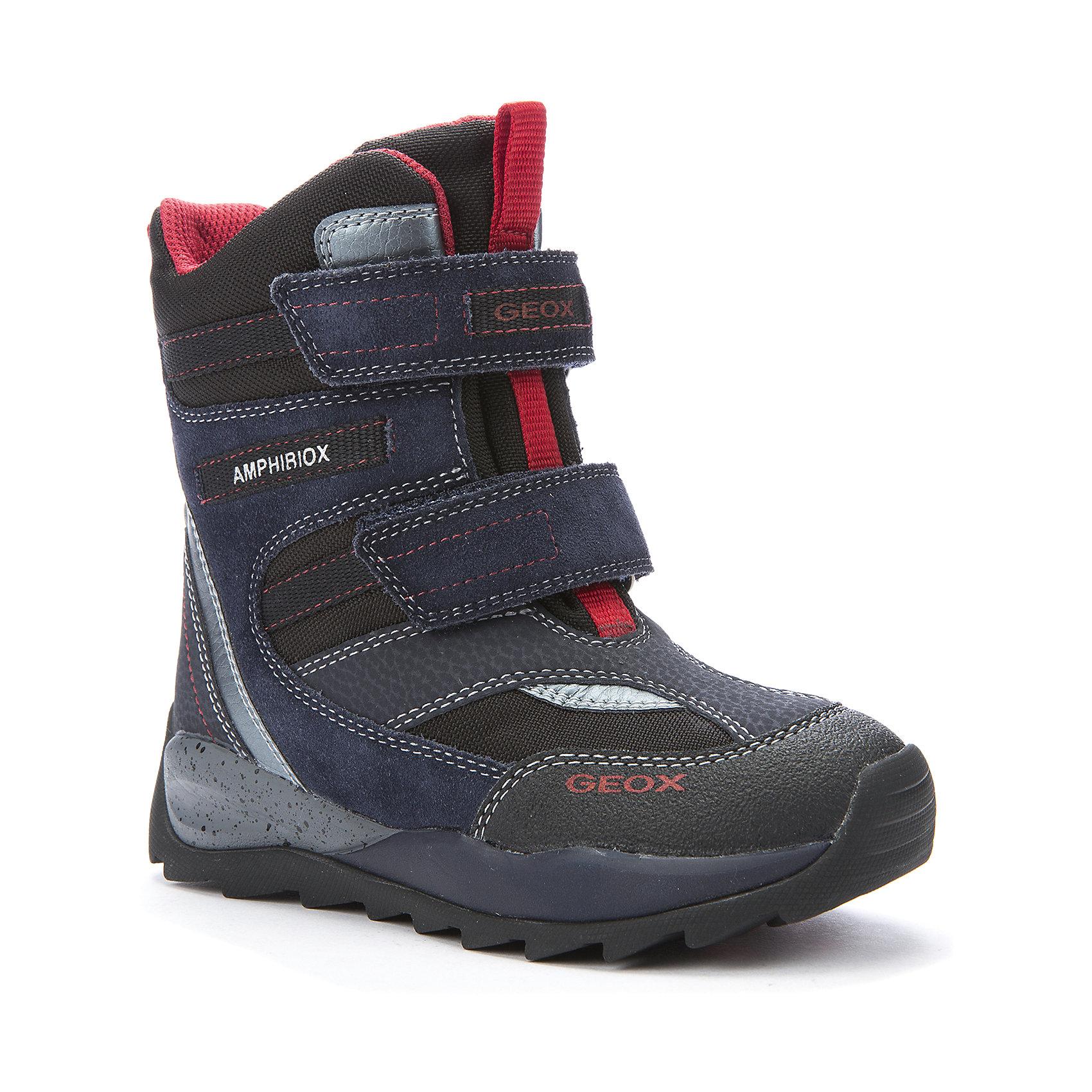 Полусапожки для мальчика GEOXПолусапожки для мальчика от популярной марки GEOX.<br><br>Удобные и стильные полусапожки сделаны по уникальной технологии. Производитель обуви GEOX разработал специальную дышащую подошву, которая не пропускает влагу внутрь, а также высокотехнологичную стельку. При производстве этих полусапожек была задействована технология Amphibiox, делающая обувь непромокаемой. <br> <br>Отличительные особенности модели:<br><br>- цвет: синий;<br>- украшены красными элементами;<br>- гибкая водоотталкивающая подошва с дышащей мембраной;<br>- утепленная стелька;<br>- мягкий и легкий верх;<br>- защита пятки и пальцев;<br>- эргономичная форма;<br>- удобная застежка-липучка и утяжка о стоппером;<br>- комфортное облегание;<br>- ударопрочная антибактериальная стелька;<br>- защита от промокания - технология Amphibiox;<br>- верх обуви и подкладка сделаны без использования хрома.<br><br>Дополнительная информация:<br><br>- Температурный режим: от - 20° С  до -5° С.<br><br>- Состав:<br><br>материал верха: искусственная кожа, текстиль<br>материал подкладки: текстиль, искусственный мех<br>подошва: резина<br><br>Полусапожки для мальчика GEOX (Геокс) можно купить в нашем магазине.<br><br>Ширина мм: 257<br>Глубина мм: 180<br>Высота мм: 130<br>Вес г: 420<br>Цвет: синий<br>Возраст от месяцев: 84<br>Возраст до месяцев: 96<br>Пол: Мужской<br>Возраст: Детский<br>Размер: 31,35,29,30,34,33,28,32,36,37,38<br>SKU: 4178388