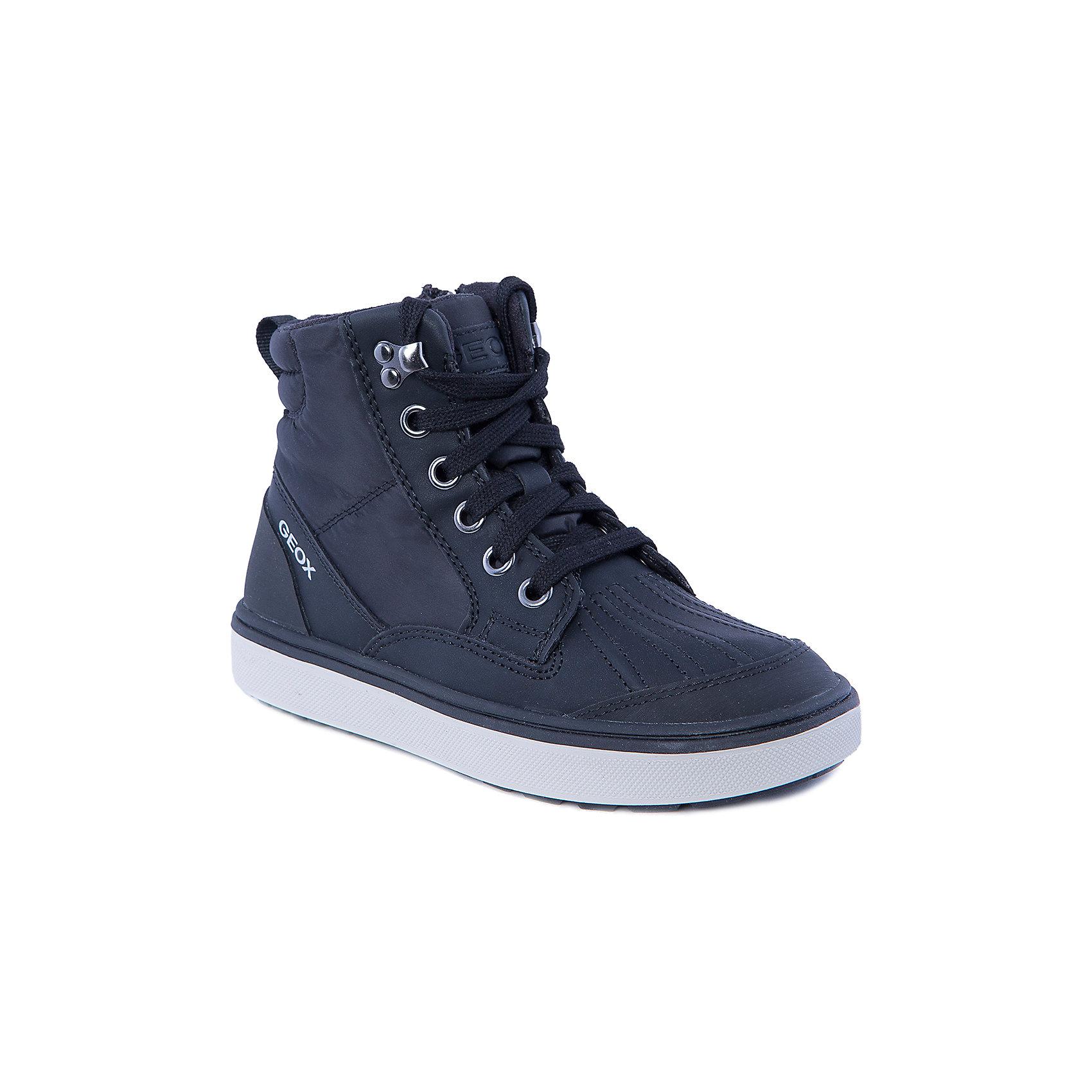 Кеды для мальчика GEOXКеды для мальчика от популярной марки GEOX.<br>Модные и удобные черные кеды сделаны по уникальной технологии. Производитель обуви GEOX разработал специальную дышащую подошву, которая не пропускает влагу внутрь, а также высокотехнологичную стельку. Стелька в данной модели - теплая.<br>Отличительные особенности модели:<br>- гибкая водоотталкивающая подошва с дышащей мембраной;<br>- мягкий и легкий верх;<br>- эргономичная форма;<br>- удобная застежка-молния и шнуровка;<br>- комфортное облегание;<br>- ударопрочная антибактериальная стелька;<br>- защита пятки и пальцев;<br>- верх обуви и подкладка сделаны без использования хрома.<br>Дополнительная информация:<br>- Температурный режим: от - 10° С  до + 15° С.<br>- Состав:<br>материал верха: синтетический материал, текстиль<br>материал подкладки: синтетический материал, текстиль<br>подошва: полимер.<br>Кеды для мальчика GEOX (Геокс) можно купить в нашем магазине.<br><br>Ширина мм: 257<br>Глубина мм: 180<br>Высота мм: 130<br>Вес г: 420<br>Цвет: черный<br>Возраст от месяцев: 84<br>Возраст до месяцев: 96<br>Пол: Мужской<br>Возраст: Детский<br>Размер: 31,34,37,38,36,35,30,32,33<br>SKU: 4178470