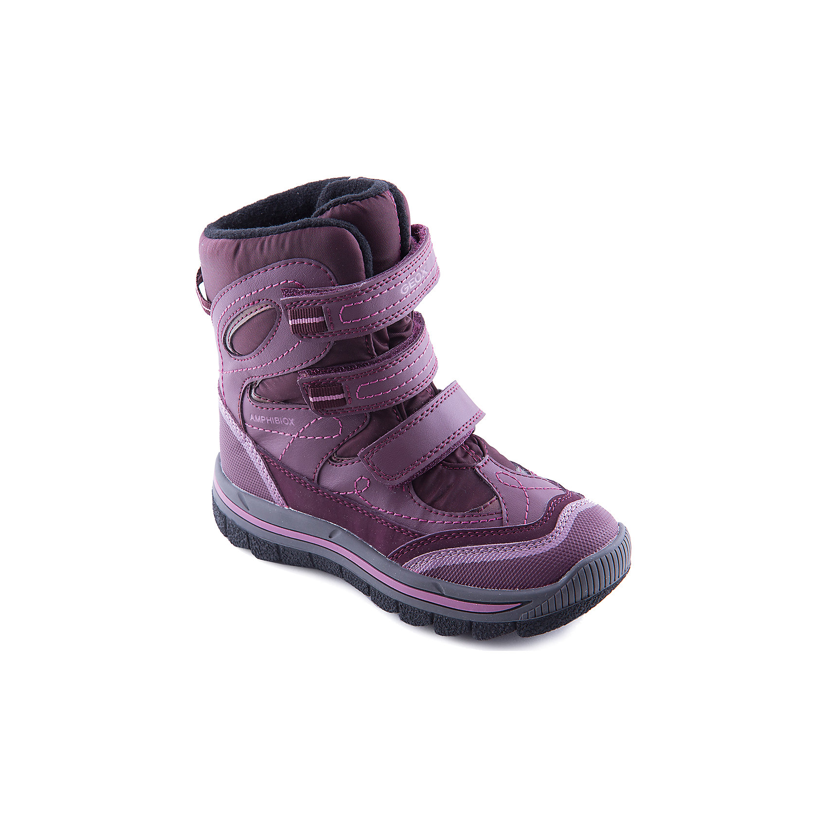 Сапоги для девочки GEOXСапоги для девочки от популярной марки GEOX.<br>Теплые черные сапоги с яркими вставками сделаны по уникальной технологии. Производитель обуви GEOX разработал специальную дышащую подошву, которая не пропускает влагу внутрь, а также высокотехнологичную стельку. При производстве этих полусапожек была задействована технология Amphibiox, делающая обувь непромокаемой. <br>Отличительные особенности модели:<br>- гибкая водоотталкивающая подошва с дышащей мембраной;<br>- утепленная стелька;<br>- мягкий и легкий верх;<br>- защита пятки и пальцев;<br>- эргономичная форма;<br>- удобная застежка-липучка;<br>- комфортное облегание;<br>- ударопрочная антибактериальная стелька;<br>- защита от промокания - технология Amphibiox;<br>- верх обуви и подкладка сделаны без использования хрома.<br>Дополнительная информация:<br>- Температурный режим: от - 20° С  до + 5° С.<br>- Состав:<br>материал верха: синтетический материал, текстиль<br>материал подкладки: текстиль<br>подошва: полимер.<br>Сапоги для девочки GEOX (Геокс) можно купить в нашем магазине.<br><br>Ширина мм: 257<br>Глубина мм: 180<br>Высота мм: 130<br>Вес г: 420<br>Цвет: черный<br>Возраст от месяцев: 72<br>Возраст до месяцев: 84<br>Пол: Женский<br>Возраст: Детский<br>Размер: 36,32,35,30,28,29,31,33,34<br>SKU: 4178549