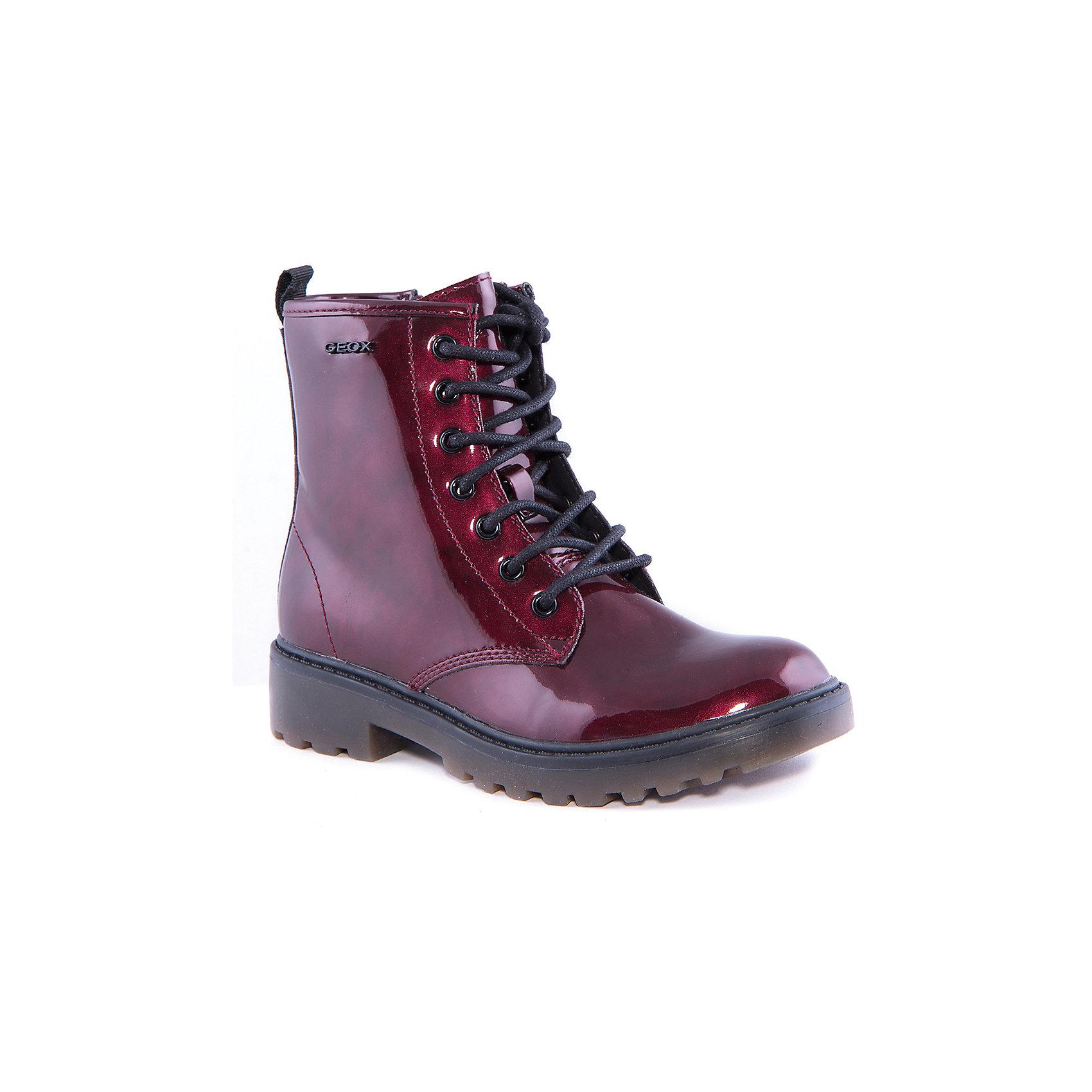 Полусапожки для девочки GEOXПолусапожки для девочки от популярной марки GEOX.<br>Эти стильные бордовые полусапоги сделаны по уникальной технологии. Производитель обуви GEOX разработал специальную дышащую подошву, которая не пропускает влагу внутрь, а также высокотехнологичную стельку. Полусапожки отлично садятся по ноге. Они сделаны из металлизированной экокожи. <br>Отличительные особенности модели:<br>- гибкая водоотталкивающая подошва с дышащей мембраной;<br>- мягкий и легкий верх;<br>- эргономичная форма;<br>- удобная застежка-молния, шнуровка;<br>- комфортное облегание;<br>- ударопрочная антибактериальная стелька;<br>- защита пятки и пальцев;<br>- верх обуви и подкладка сделаны без использования хрома.<br>Дополнительная информация:<br>- Температурный режим: от - 10° С  до + 15° С.<br>- Состав:<br>материал верха: экокожа<br>материал подкладки: текстиль<br>подошва: полимер.<br>Полусапожки для девочки GEOX (Геокс) можно купить в нашем магазине.<br><br>Ширина мм: 257<br>Глубина мм: 180<br>Высота мм: 130<br>Вес г: 420<br>Цвет: красный<br>Возраст от месяцев: 84<br>Возраст до месяцев: 96<br>Пол: Женский<br>Возраст: Детский<br>Размер: 31,32,33,35,36,38,34,39,37<br>SKU: 4178589