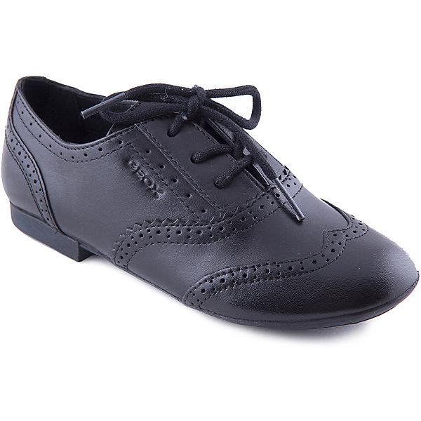 Полуботинки для девочки GeoxОбувь<br>Стильные туфли от известной марки станут прекрасным дополнением делового образа ребенка. Модель черного цвета прекрасно сочетается с различными вещами в гардеробе. Туфли на шнурках декорированы перфорацией, имеют небольшой удобный каблук. <br><br>Дополнительная информация:<br><br>- Тип застежки: шнурки. <br>- Цвет: черный.<br><br>Состав:<br>- Верх: натуральная кожа.<br>- Подкладка: натуральная кожа.<br>- Подошва: резина.<br>- Стелька: натуральная кожа.<br><br>Туфли для девочки GEOX (Геокс), можно купить в нашем магазине.<br>Ширина мм: 227; Глубина мм: 145; Высота мм: 124; Вес г: 325; Цвет: черный; Возраст от месяцев: 96; Возраст до месяцев: 108; Пол: Женский; Возраст: Детский; Размер: 32,37,39,38,31,33,34,35,36; SKU: 4178779;