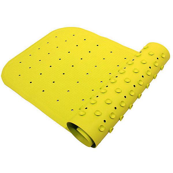Антискользящий коврик для ванны 34,5х76 см, салатовыйДетские коврики для ванны<br>Антискользящий коврик для ванны 34,5х76 см, салатовый – это эластичный, мягкий и приятный на ощупь коврик для безопасного купания малыша.<br>Противоскользящий коврик для ванны создан специально для детей и призван обеспечить комфортное и безопасное купание малышей в ванне. Он обладает целым рядом важных преимуществ. Мягкие присоски надежно прикрепляют коврик ко дну ванны и не дают ему скользить по ее поверхности, как бы активно ни двигался малыш. Специальное покрытие препятствует скольжению ног или тела ребенка по коврику. Поверхность коврика имеет рельефные элементы, обеспечивающие массажные функции, благодаря которым купание малыша в ванне станет не только простым и безопасным, но еще и полезным! Специальные отверстия позволяют воде легко стекать и обеспечивают более надежное крепление коврика к поверхности ванны. Оптимальный размер коврика 34 на 74 см делает его доступным для использования в любых ваннах, как в обычных больших, так и в детских ванночках и мини-бассейнах. Коврик выполнен в жизнерадостном салатовом цвете - он станет не только отличным помощником вам и вашему малышу, но и стильным аксессуаром! Антискользящий коврик для ванны сделан из 100%-но натуральной резины без применения токсичного сырья. Резиновый коврик на присосках полностью соответствует всем требованиям безопасности детской продукции: ГОСТ 25779-90, СанПин 2.4.7.007-93, Европейским стандартам качества EN17.<br><br>Дополнительная информация:<br><br>- Материал: резина<br>- Цвет: салатовый<br>- Размер: 34,5 х 76 см.<br><br>Антискользящий коврик для ванны 34,5х76 см, салатовый можно купить в нашем интернет-магазине.<br><br>Ширина мм: 340<br>Глубина мм: 250<br>Высота мм: 30<br>Вес г: 700<br>Возраст от месяцев: 0<br>Возраст до месяцев: 36<br>Пол: Унисекс<br>Возраст: Детский<br>SKU: 4182091
