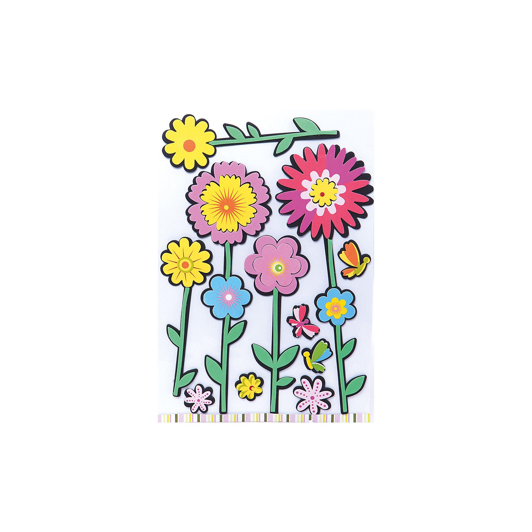 Декоративные наклейки ЦветыДарите своим родным радость! Самый простой способ улучшить настроение – это подарить цветок! Но пусть он будет вечным. Декоративные наклейки Цветы на стены с разными цветами моментально превратят Ваш дом в оранжерею. Рисунки цветов на стене сделают комнату «живой» и не потребуют ухода. Выбирайте только самые красивые цветы. Они подойдут для любой комнаты в доме. Не отказывайте себе в этом источнике радости круглый год!<br>Декоративные наклейки Цветы выполненные из ПВХ, на клеевой основе, станут прекрасным украшением любого помещения, оживят и дополнят интерьер комнаты. Наклейки легко наклеиваются и снимаются, не оставляют следов на обоях и других поверхностях.<br><br>Дополнительная информация:<br><br>- материал: ПВХ, клей.<br>- размер: 30*39 см.<br><br>Декоративные наклейки Цветы можно купить в нашем магазине.<br><br>Ширина мм: 330<br>Глубина мм: 50<br>Высота мм: 550<br>Вес г: 20<br>Возраст от месяцев: 36<br>Возраст до месяцев: 2147483647<br>Пол: Женский<br>Возраст: Детский<br>SKU: 4182173