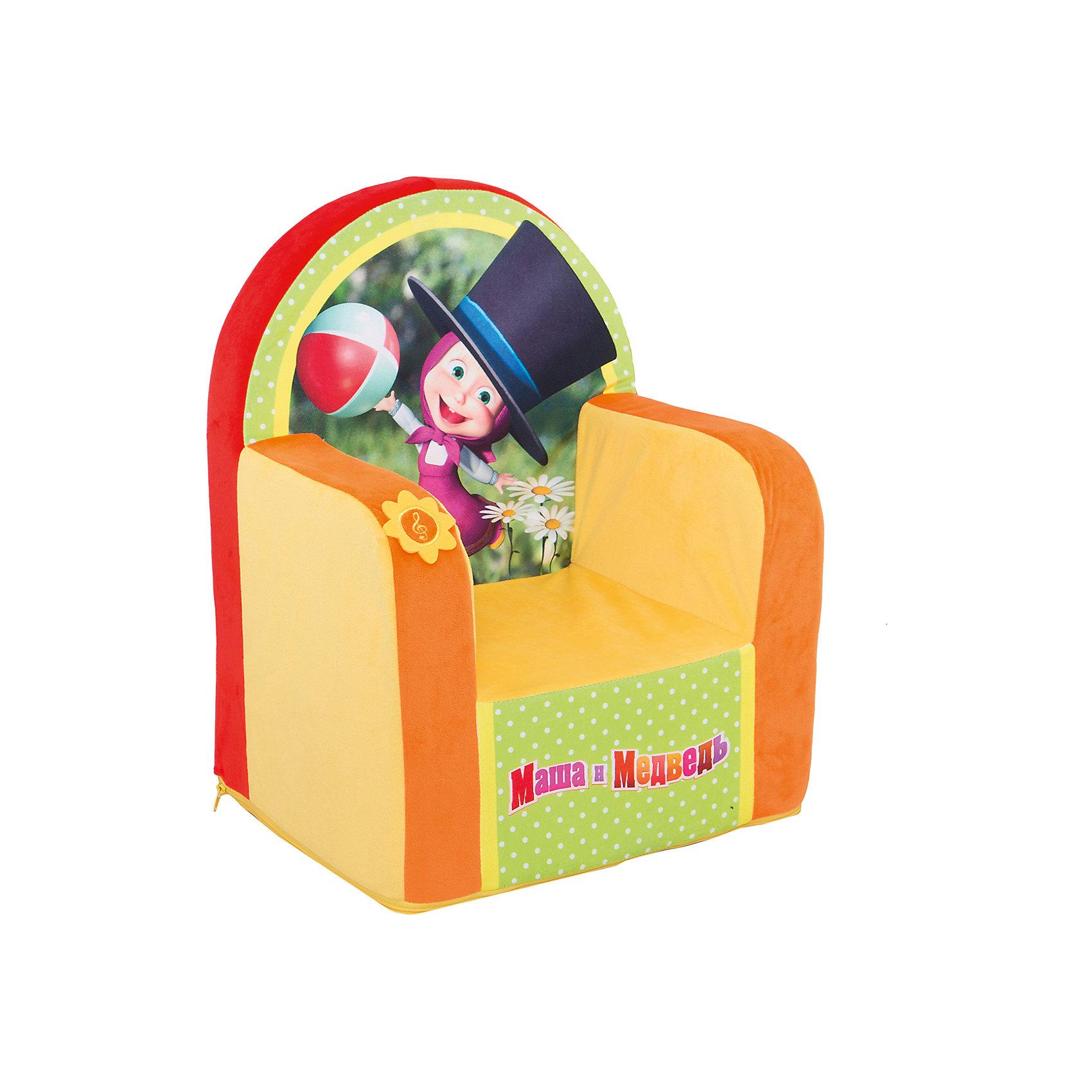 Кресло Маша в цилиндре со звукомУдобное мягкое кресло Маша в цилиндре станет любимым местом отдыха для Вашего малыша и украшением его комнаты. Яркое кресло в оранжево-зеленых тонах украшено изображением веселой девочки Маши из популярного отечественного мультфильма Маша и Медведь.<br>Размеры кресла, мягкий материал, отсутствие жёстких вставок делают его комфортным и безопасным для малыша, а яркий крупный рисунок и дизайн позволяют использовать его для детских игр. Имеются звуковые эффекты.<br><br><br>Дополнительная информация:<br><br>- Материал: текстиль, синтепон.<br>- Размер: 53 х 41 х 32 см.<br>- Вес: 1 кг.<br><br>Кресло Маша в цилиндре со звуком, СмолТойс, можно купить в нашем интернет-магазине.<br><br>Ширина мм: 320<br>Глубина мм: 410<br>Высота мм: 530<br>Вес г: 1000<br>Возраст от месяцев: 36<br>Возраст до месяцев: 2147483647<br>Пол: Унисекс<br>Возраст: Детский<br>SKU: 4182423
