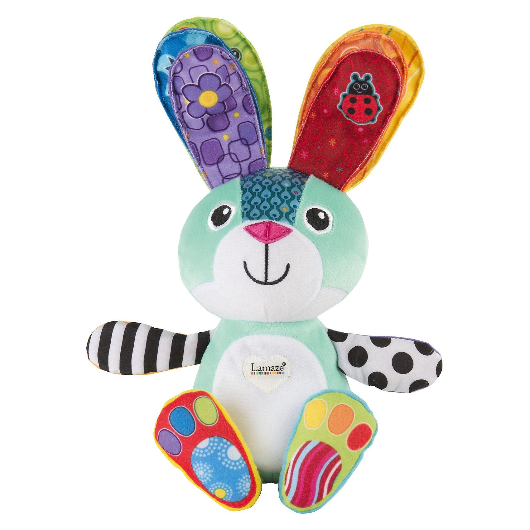 Учёный зайкаУчим цвета, 24см, LamazeУчёный зайка  Учим цвета, Lamaze – это яркая развивающая игрушка, которая обязательно понравится вашему ребенку.<br>Длинноухий разноцветный Ученый зайка станет лучшим другом малышу и научит его различать цвета. Игрушка мягкая, приятная на ощупь, зайчонок раскинул лапки, чтобы приветствовать вашего малыша. Красочные разнофактурные ткани, из которых изготовлена игрушка, приятно трогать пальчиками. Если ребенок нажмет на одно ушко нового друга, то у зайки засветится животик, и он скажет название цвета. Нажав на два ушка, малыш услышит веселую мелодию, а животик зайки будет переливаться всеми цветами радуги. Игрушку можно переключить в ночной режим, для этого нужно нажать на лапку зайки. Колыбельная мелодия и мягкий приглушенный свет успокоят маленького непоседу и унесут его в мир сладких снов.<br><br>Дополнительная информация:<br><br>- Батарейки: 3 типа ААА (в комплекте)<br>- Размер: 9,5 x 16,5 x 24,1 см.<br>- Вес: 300 гр.<br><br>Игрушку Учёный зайка  Учим цвета, Lamaze можно купить в нашем интернет-магазине.<br><br>Ширина мм: 9999<br>Глубина мм: 9999<br>Высота мм: 9999<br>Вес г: 9999<br>Возраст от месяцев: 9<br>Возраст до месяцев: 36<br>Пол: Унисекс<br>Возраст: Детский<br>SKU: 4183567