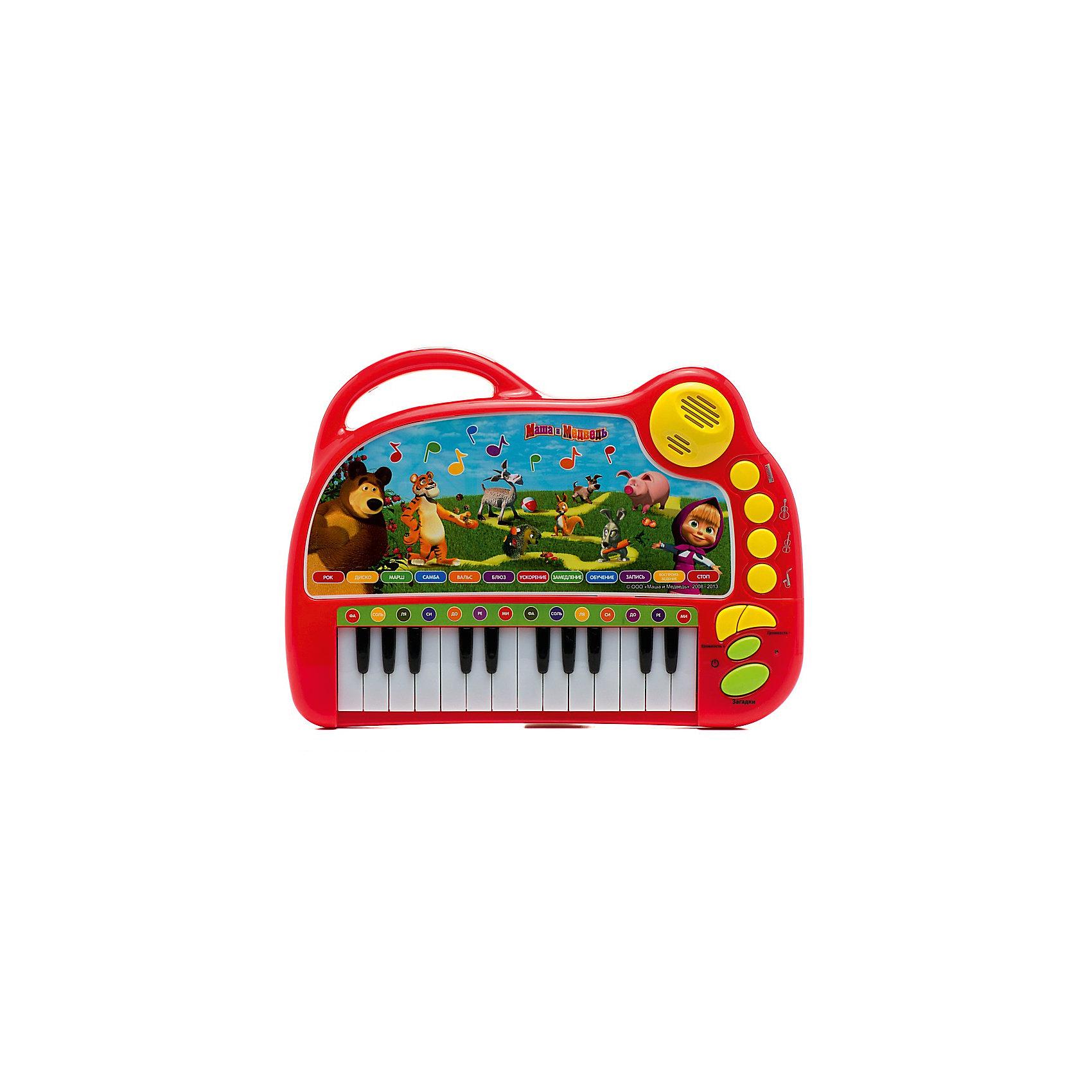 Обучающее пианино 9 стихов+9 песен, со светом, Маша и Медведь, Умка