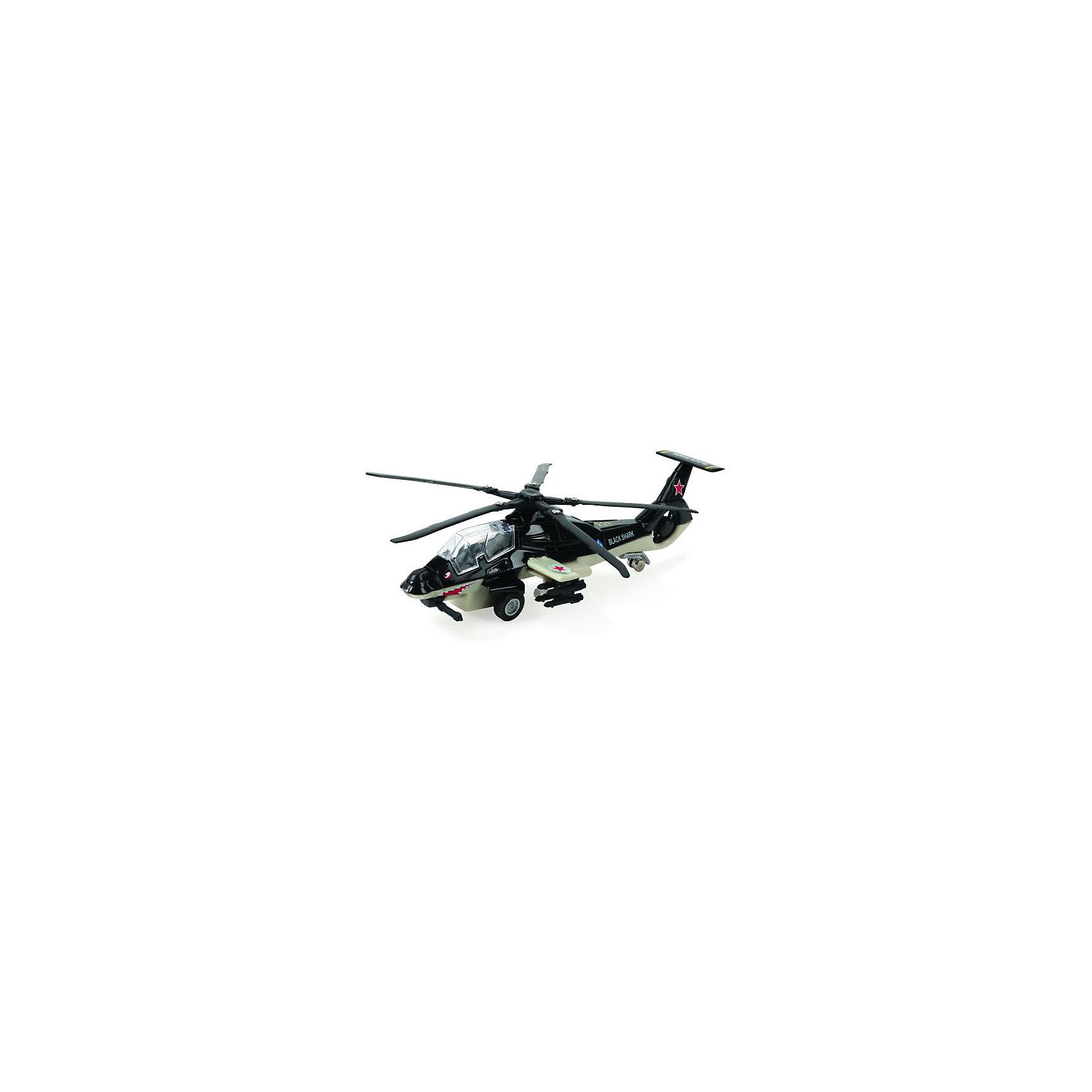 Вертолет, инерционный, со светом и звуком, металл, ТЕХНОПАРКСамолёты и вертолёты<br>Вертолет, инерционный, со светом и звуком, металл, ТЕХНОПАРК – это пример детального воплощения мощной боевой техники в игрушке.<br>Модель знаменитого вертолета «Черная акула» в точности повторяет оригинал. Модель отличается высоким качеством исполнения и детализации. Несущий винт вертолета вращается. При нажатии кнопки на корпусе вертолета прозвучат звуки стрельбы и загорятся лампочки в кабине пилота и под крыльями. Чтобы играть с ней было еще интереснее, производитель оснастил ее инерционным механизмом, благодаря которому она может ездить вперед. Для этого нужно лишь немного нажать на корпус вертолета и немного подвинуть его назад. После того, как игрушка будет отпущена, она тут же помчится вперед. Прорезиненные колеса обеспечивают надежное сцепление с любой гладкой поверхностью. Ваш ребенок часами будет играть с вертолетом, придумывая различные истории. Порадуйте его таким замечательным подарком!<br><br>Дополнительная информация:<br><br>- Масштаб: 1:43<br>- Цвет: черный<br>- Размер: 21 х 7,5 х 6 см.<br>- Батарейки: 3 типа LR41 напряжением 1,5V (в комплекте демонстрационные)<br>- Материал: металл, пластик, резина<br>- Размер упаковки: 9 x 28 x 15 см.<br><br>Вертолет, инерционный, со светом и звуком, металл, ТЕХНОПАРК можно купить в нашем интернет-магазине.<br><br>Ширина мм: 600<br>Глубина мм: 580<br>Высота мм: 400<br>Вес г: 280<br>Возраст от месяцев: 36<br>Возраст до месяцев: 120<br>Пол: Мужской<br>Возраст: Детский<br>SKU: 4185321