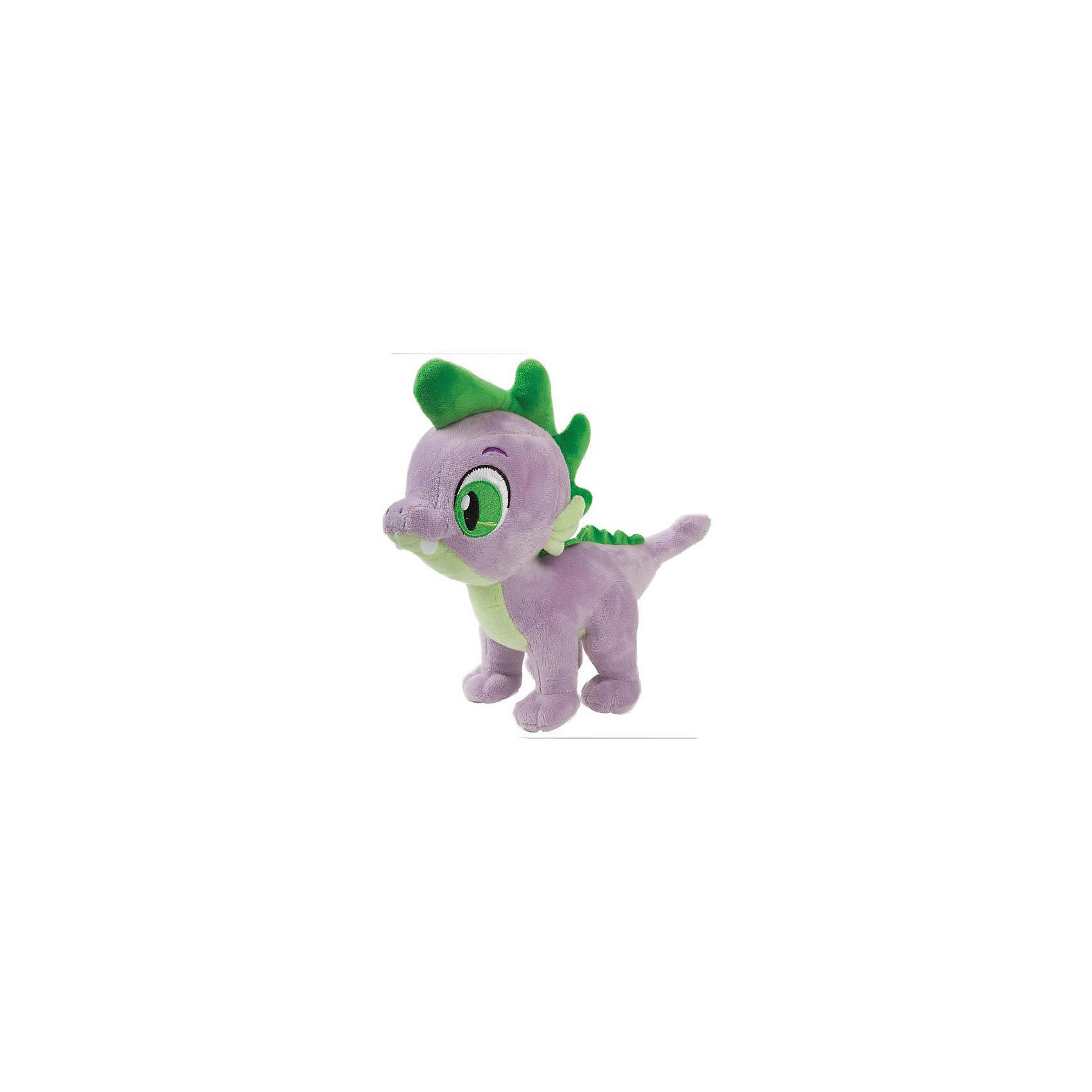 Мягкая игрушка Динозаврик Спайк, со звуком,  23 см, My little Pony, МУЛЬТИ-ПУЛЬТИМягкая игрушка Динозаврик Спайк, со звуком,  23 см, My little Pony, МУЛЬТИ-ПУЛЬТИ - это замечательный подарок любому малышу!<br>Мягкая игрушка Динозаврик Спайк изготовлена по мотивам мультфильма Дружба - Это чудо!. Игрушка в точности напоминает персонажа мультфильма. Спайк (Spike) — это маленький сиреневый дракончик с зелёным гребнем от головы до хвоста. Мультяшный образ динозавра вкупе с его большими глазами, делает игрушку невероятно милой. Игрушка Динозаврик Спайк умеет говорить забавные фразы и петь песенку, благодаря чему ребенку с ним будет очень весело и интересно играть! Мягкая игрушка Динозаврик Спайк станет отличной находкой для любителей «My Little Pony»! Игрушка изготовлена из качественных и безопасных материалов. <br><br>Дополнительная информация:<br><br>- Материал: плюш<br>- Размер игрушки: 23 см.<br>- На батарейках (входят в комплект)<br><br>Мягкую игрушку Динозаврик Спайк, со звуком,  23 см, My little Pony, МУЛЬТИ-ПУЛЬТИ можно купить в нашем интернет-магазине.<br><br>Ширина мм: 540<br>Глубина мм: 520<br>Высота мм: 360<br>Вес г: 290<br>Возраст от месяцев: 36<br>Возраст до месяцев: 84<br>Пол: Унисекс<br>Возраст: Детский<br>SKU: 4185329