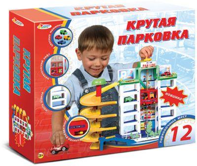 Гараж 6 уровней , с машинками и аксессуарами, Играем вместе