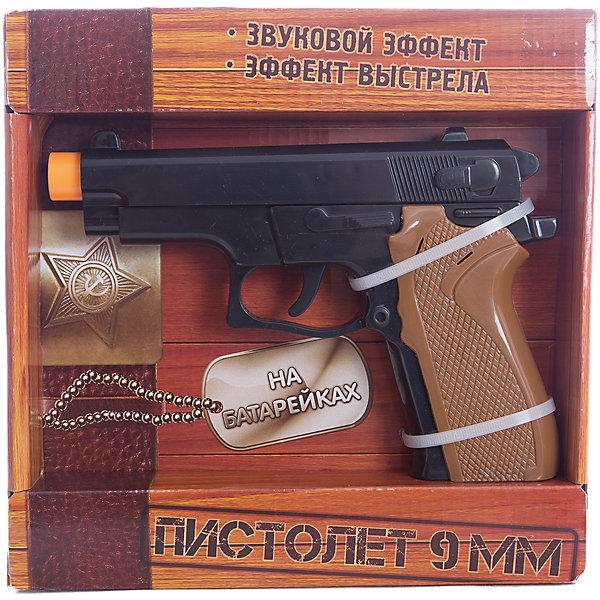 Игрушка Пистолет 9мм, Играем вместеИгрушечные пистолеты и бластеры<br>Игрушка Пистолет 9мм, Играем вместе – это замечательный подарок для вашего мальчика.<br>Игрушечный Пистолет 9мм представляет собой копию 9-ти миллиметрового пистолета. Он имеет движущийся затвор и имитирует реалистичный звук выстрелов. Оригинальный дизайн пистолета обязательно понравится вашему ребенку. С ним можно играть как на улице, так и в помещении. Данная игрушка способствует развитию у детей координации движений. Оружие сделано из прочного безопасного пластика.<br><br>Дополнительная информация:<br><br>- Материал: пластик<br>- Работает от батареек, входят в комплект<br>- Размер упаковки: 22,3 х 22 х 4 см.<br><br>Игрушку Пистолет 9мм, Играем вместе можно купить в нашем интернет-магазине.<br><br>Ширина мм: 530<br>Глубина мм: 480<br>Высота мм: 480<br>Вес г: 330<br>Возраст от месяцев: 36<br>Возраст до месяцев: 144<br>Пол: Мужской<br>Возраст: Детский<br>SKU: 4185343