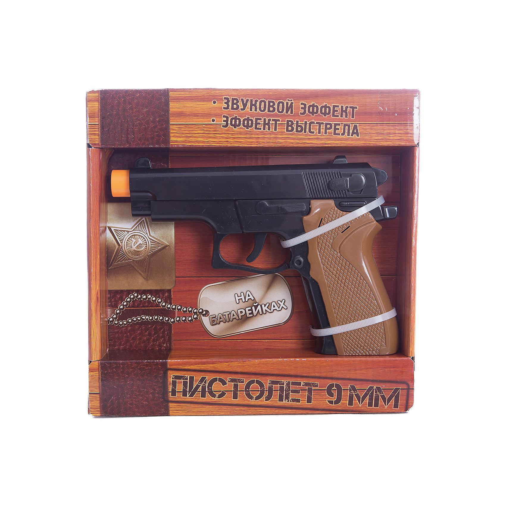 Игрушка Пистолет 9мм, Играем вместеБластеры, пистолеты и прочее<br>Игрушка Пистолет 9мм, Играем вместе – это замечательный подарок для вашего мальчика.<br>Игрушечный Пистолет 9мм представляет собой копию 9-ти миллиметрового пистолета. Он имеет движущийся затвор и имитирует реалистичный звук выстрелов. Оригинальный дизайн пистолета обязательно понравится вашему ребенку. С ним можно играть как на улице, так и в помещении. Данная игрушка способствует развитию у детей координации движений. Оружие сделано из прочного безопасного пластика.<br><br>Дополнительная информация:<br><br>- Материал: пластик<br>- Работает от батареек, входят в комплект<br>- Размер упаковки: 22,3 х 22 х 4 см.<br><br>Игрушку Пистолет 9мм, Играем вместе можно купить в нашем интернет-магазине.<br><br>Ширина мм: 530<br>Глубина мм: 480<br>Высота мм: 480<br>Вес г: 330<br>Возраст от месяцев: 36<br>Возраст до месяцев: 144<br>Пол: Мужской<br>Возраст: Детский<br>SKU: 4185343