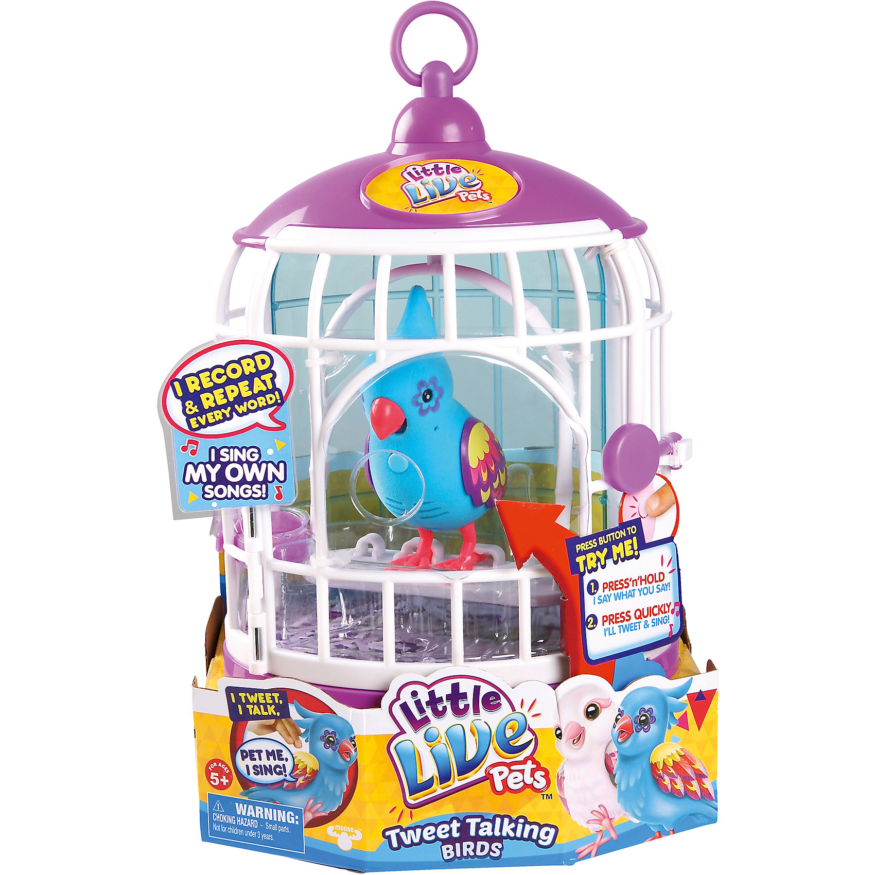 Говорящая птичка в домике, Little Live Pets от myToys