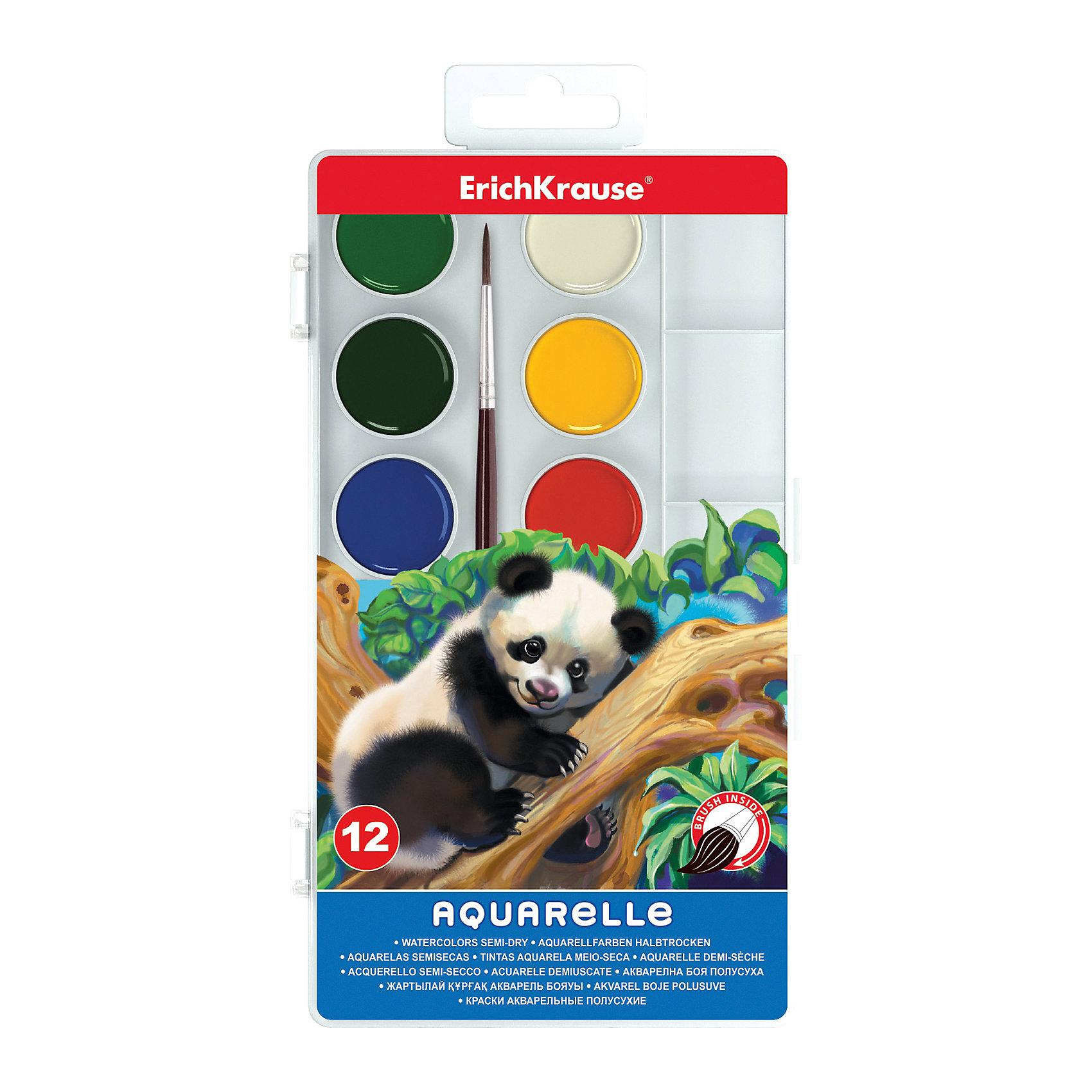 Медовая акварель с палитрой, 12 цветовМедовая акварель, Erich Krause (Эрих Краузе), хорошо подойдет как для школьных занятий так и для детского творчества в свободное время. В наборе 12 акварельных медовых красок, упакованных в пластиковую коробочку с изображением очаровательного мишки панды. Краски легко наносится и хорошо смешиваются между собой, при нанесении создают прозрачный цветной слой, быстро сохнут, не крошатся и не смазываются. В комплект также входит кисточка и палитра.<br><br>Дополнительная информация:<br><br>- В комплекте: 12 цветов.<br>- Размер упаковки: 20 х 10 х 1,2 см.<br>- Вес: 110 гр.<br><br>Медовую акварель с палитрой, 12 цветов, Erich Krause (Эрих Краузе), можно купить в нашем интернет-магазине.<br><br>Ширина мм: 200<br>Глубина мм: 100<br>Высота мм: 12<br>Вес г: 110<br>Возраст от месяцев: 36<br>Возраст до месяцев: 144<br>Пол: Унисекс<br>Возраст: Детский<br>SKU: 4188600
