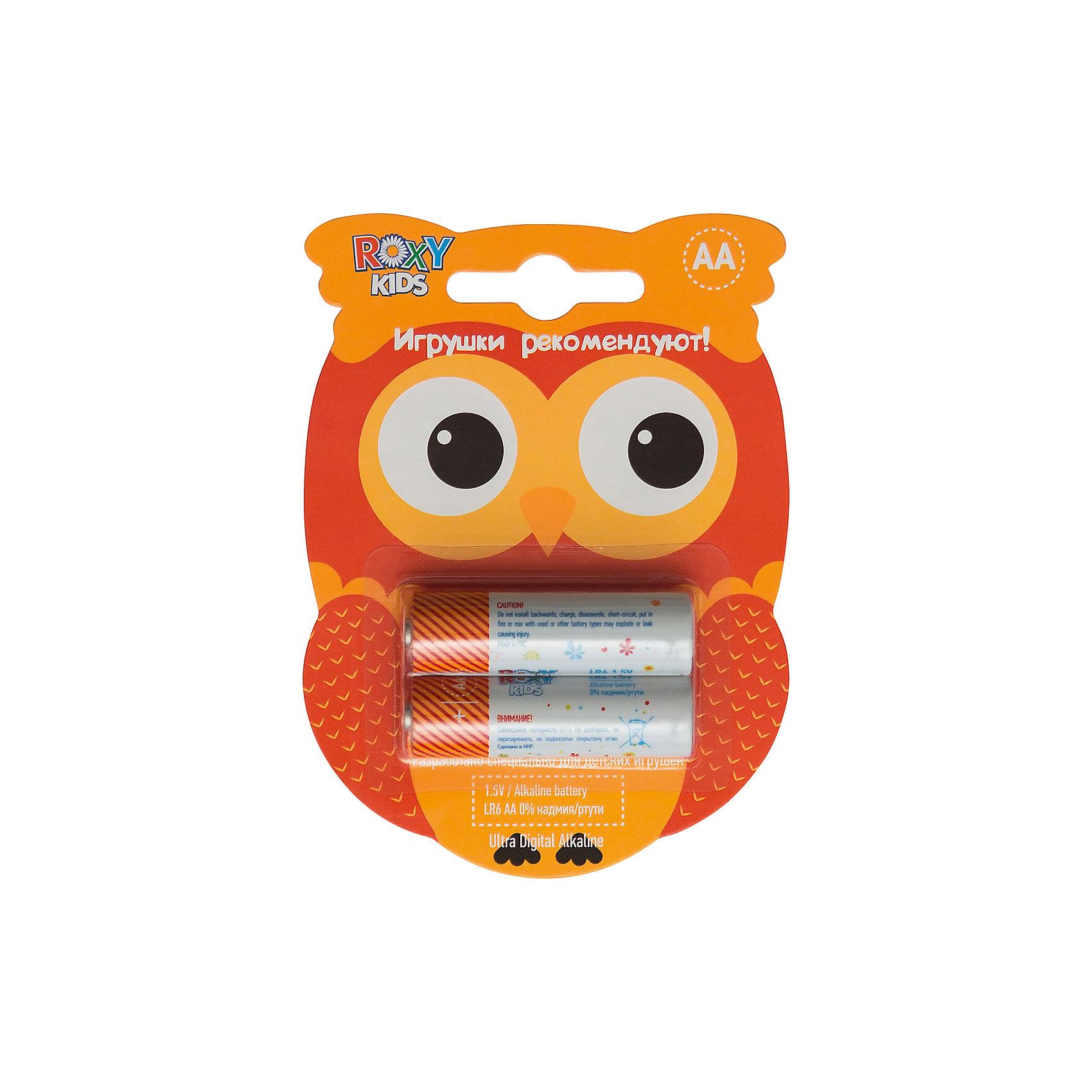 Roxy-Kids Батарейки для игрушек, тип АА, 2 шт., Roxy-kids roxy kids проектор звездного неба olly с игрушкой сова roxy kids