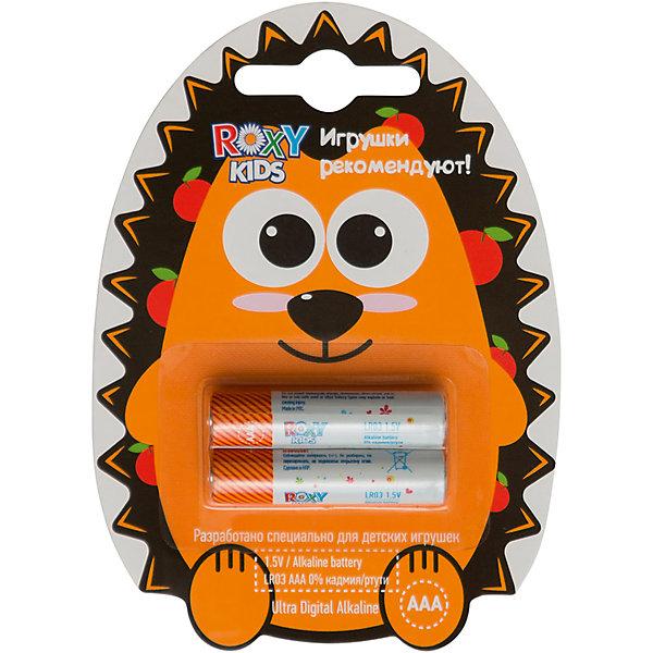 Батарейки для игрушек, тип ААА, 2 шт., Roxy-kidsБатарейки<br>ЕЖИК - Alkaline Battery LR - щелочные (алкалиновые) батарейки. <br>Батарейки ROXY-KIDS - идеальное соотношение цены и продолжительности заряда для игрушек! Батарейки ROXY-KIDS - минимальная стоимость одного часа работы!<br><br>Дополнительная информация:<br><br>Тип батареек: ААА<br>В комплекте 2 шт.<br>В составе 0% ртути и кадмия. <br>Системы менеджмента качества и экологического менеджмента подтверждена в Нидерландах.<br><br>Батарейки, тип ААА, 1,5В, 2 шт., Roxy-kids можно купить в нашем магазине.<br><br>Ширина мм: 110<br>Глубина мм: 80<br>Высота мм: 10<br>Вес г: 40<br>Возраст от месяцев: 192<br>Возраст до месяцев: 1188<br>Пол: Унисекс<br>Возраст: Детский<br>SKU: 4188902