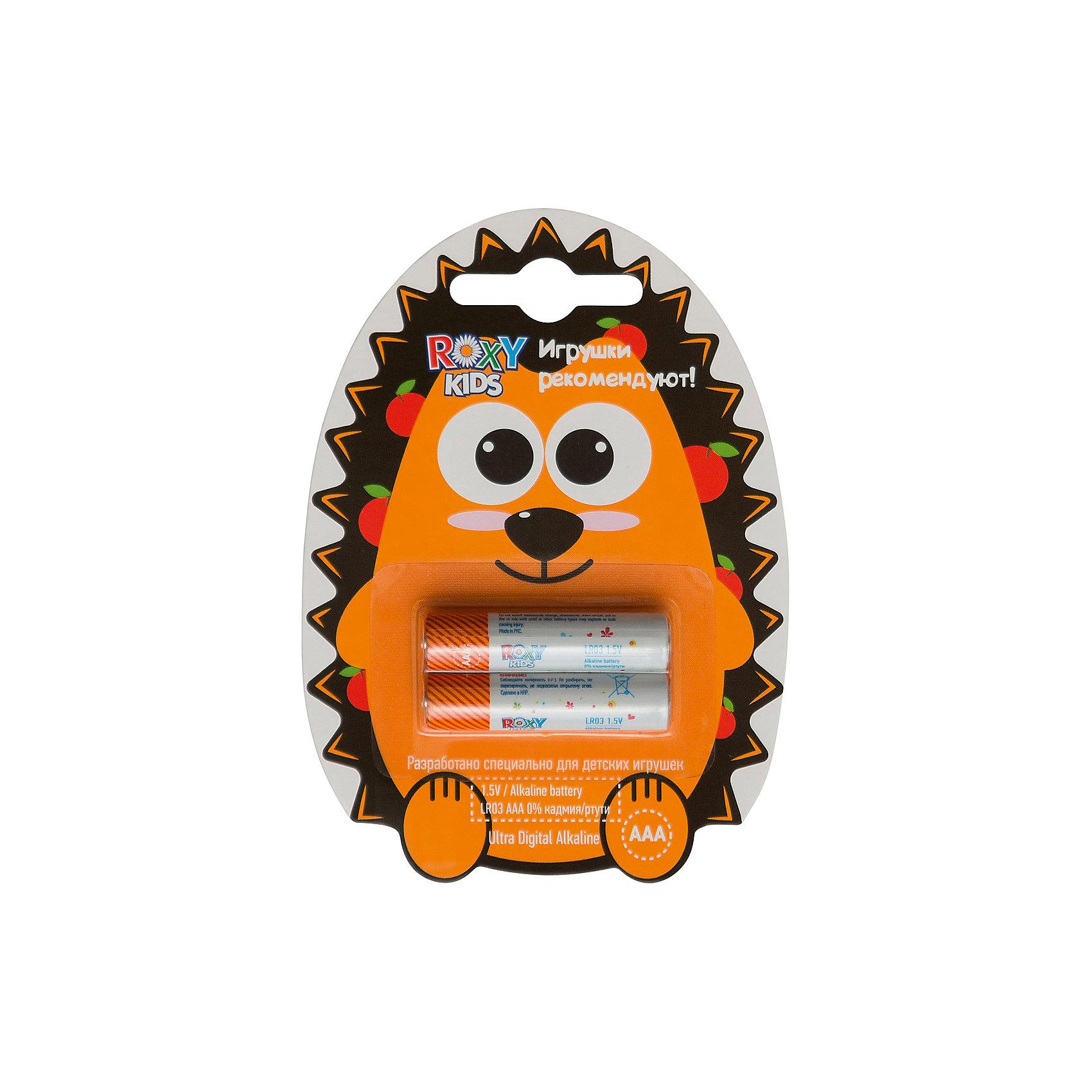 Батарейки для игрушек, тип ААА, 2 шт., Roxy-kidsДетская электроника<br>ЕЖИК - Alkaline Battery LR - щелочные (алкалиновые) батарейки. <br>Батарейки ROXY-KIDS - идеальное соотношение цены и продолжительности заряда для игрушек! Батарейки ROXY-KIDS - минимальная стоимость одного часа работы!<br><br>Дополнительная информация:<br><br>Тип батареек: ААА<br>В комплекте 2 шт.<br>В составе 0% ртути и кадмия. <br>Системы менеджмента качества и экологического менеджмента подтверждена в Нидерландах.<br><br>Батарейки, тип ААА, 1,5В, 2 шт., Roxy-kids можно купить в нашем магазине.<br><br>Ширина мм: 110<br>Глубина мм: 80<br>Высота мм: 10<br>Вес г: 40<br>Возраст от месяцев: 192<br>Возраст до месяцев: 1188<br>Пол: Унисекс<br>Возраст: Детский<br>SKU: 4188902