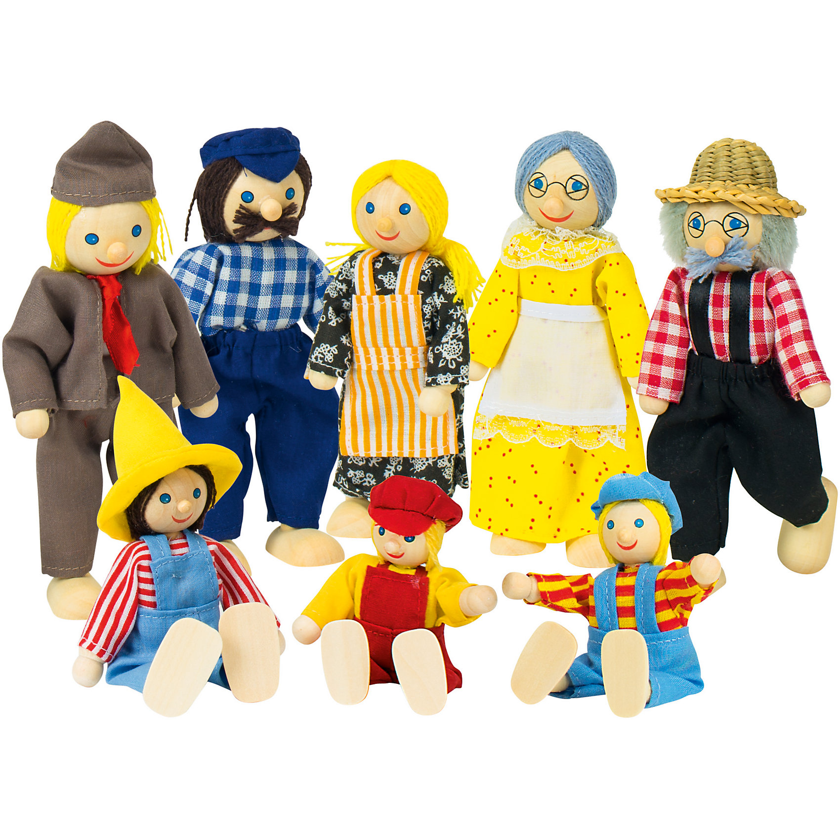Куклы Семья деревенская 8 в 1, goki