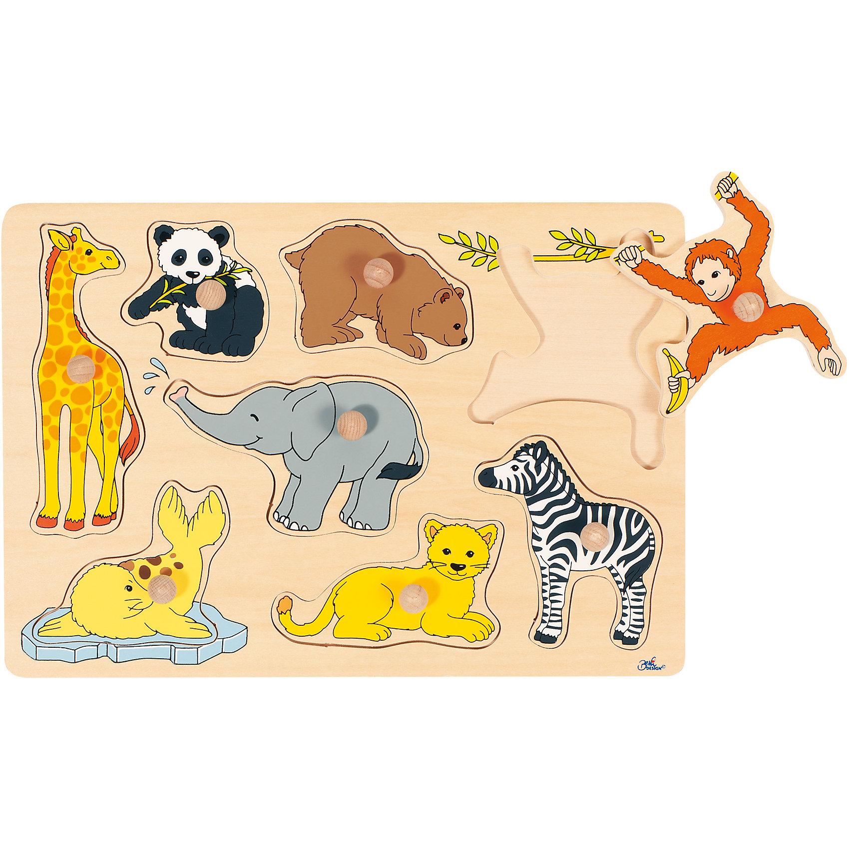 Пазл с держателями Животные зоопарка, goki