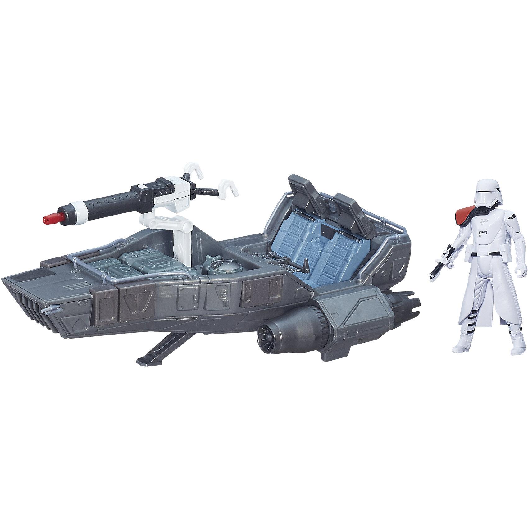 Космический корабль Класс II, Звездные войныСоздай свой галактический флот Звездных войн с космическим кораблем среднего размера из нового эпизода саги. Мощный и быстрый спидер, предназначен для особых миссий на заснеженных планетах. Фантастический летательный аппарат использует силу гравитации планеты и поднимается над поверхностью на высоту до двух метров! Игрушка выполнена из высококачественного пластика, прекрасно детализирована и реалистично раскрашена. Космический корабль станет замечательным подарком для все поклонников легендарной саги.<br><br>Дополнительная информация:<br><br>- Материал: пластик.<br>- Размер: 35,6х27 см.<br>- Высота фигурки: 9,5 см.<br>- Комплектация: спидер, ракета, фигурка.<br>- Функция стрельбы ракетами. <br><br>Космический корабль Класс II,  Звездные войны (Star Wars), можно купить в нашем магазине.<br><br>Ширина мм: 356<br>Глубина мм: 269<br>Высота мм: 88<br>Вес г: 524<br>Возраст от месяцев: 48<br>Возраст до месяцев: 96<br>Пол: Мужской<br>Возраст: Детский<br>SKU: 4189954