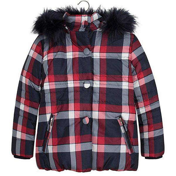 Куртка для девочки MayoralДемисезонные куртки<br>Куртка для девочки от популярной испанской марки Mayoral.<br>Модная и теплая куртка от известного испанского бренда Mayoral – отличный вариант универсальной верхней одежды для детей. Она не только согревает в холодную погоду, но и отлично смотрится. Удобный крой и качественный материал обеспечит ребенку комфорт при ношении этой вещи. <br>Модель имеет следующие особенности:<br><br>- цвет: красно-бело-синий, клетка;<br>- удобные функциональные карманы на молнии;<br>- отстегивающийся капюшон с опушкой;<br>- плащевая ткань;<br>- трикотажные манжеты на рукавах;<br>- застежка-молния, клапан.<br><br>Состав: 100% полиэстер<br><br>Уход за изделием:<br><br>стирка в машине при температуре до 30°С,<br>не отбеливать.<br><br>Температурный режим:<br><br>от -5° С до +15° С<br><br>Куртку для девочки Mayoral (Майорал) можно купить в нашем магазине.<br><br>Ширина мм: 356<br>Глубина мм: 10<br>Высота мм: 245<br>Вес г: 519<br>Цвет: синий<br>Возраст от месяцев: 132<br>Возраст до месяцев: 144<br>Пол: Женский<br>Возраст: Детский<br>Размер: 152,140,128,158,164<br>SKU: 4190226