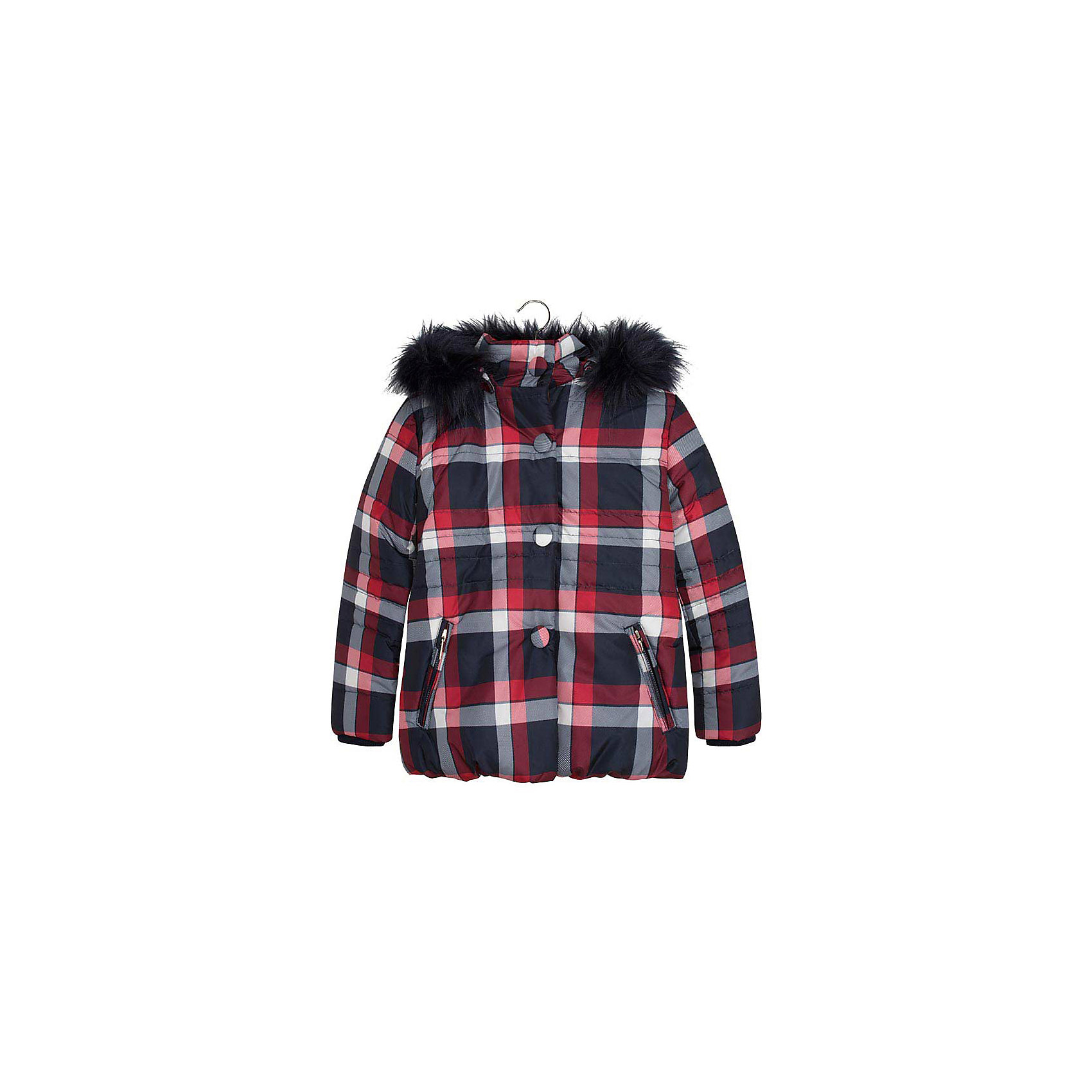 Куртка для девочки MayoralДемисезонные куртки<br>Куртка для девочки от популярной испанской марки Mayoral.<br>Модная и теплая куртка от известного испанского бренда Mayoral – отличный вариант универсальной верхней одежды для детей. Она не только согревает в холодную погоду, но и отлично смотрится. Удобный крой и качественный материал обеспечит ребенку комфорт при ношении этой вещи. <br>Модель имеет следующие особенности:<br><br>- цвет: красно-бело-синий, клетка;<br>- удобные функциональные карманы на молнии;<br>- отстегивающийся капюшон с опушкой;<br>- плащевая ткань;<br>- трикотажные манжеты на рукавах;<br>- застежка-молния, клапан.<br><br>Состав: 100% полиэстер<br><br>Уход за изделием:<br><br>стирка в машине при температуре до 30°С,<br>не отбеливать.<br><br>Температурный режим:<br><br>от -5° С до +15° С<br><br>Куртку для девочки Mayoral (Майорал) можно купить в нашем магазине.<br><br>Ширина мм: 356<br>Глубина мм: 10<br>Высота мм: 245<br>Вес г: 519<br>Цвет: синий<br>Возраст от месяцев: 132<br>Возраст до месяцев: 144<br>Пол: Женский<br>Возраст: Детский<br>Размер: 152,128,140,164,158<br>SKU: 4190226