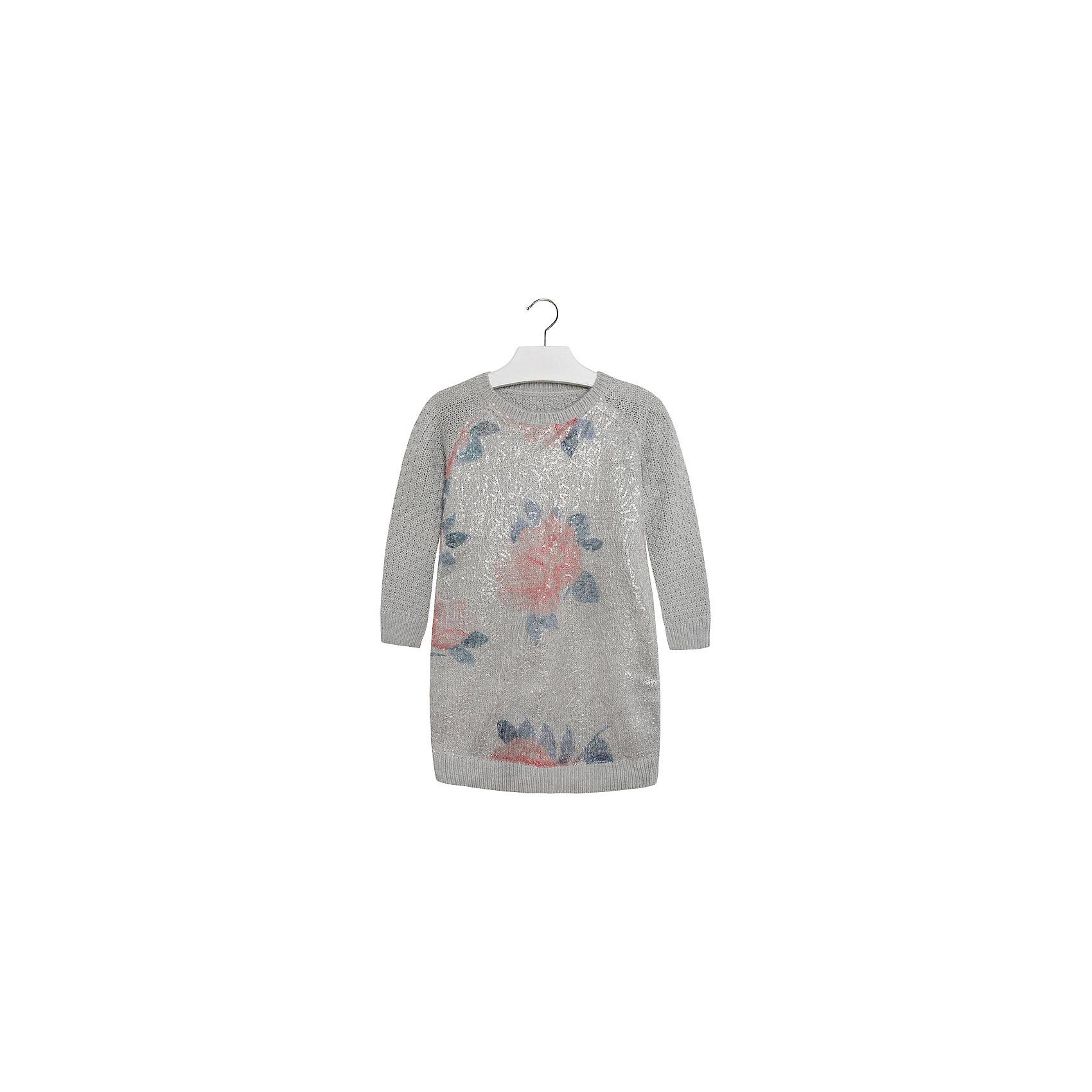 Платье MayoralПлатье для девочки от известной испанской марки Mayoral.<br>Теплое платье от Mayoral обеспечит уютом и теплом даже в холода. Удобный крой и качественный материал обеспечит ребенку комфорт при ношении этой вещи.<br>Модель имеет следующие особенности:<br><br>- цвет – серый;<br>- полочка с ворсом, на ней узор;<br>- рукава -реглан, короткие;<br>- средней вязки.<br><br>Состав: 70% акрил, 30% полиэстер<br>Уход за изделием:<br><br>• стирка в машине при температуре до 30°С,<br>• не отбеливать,<br>• гладить на низкой температуре.<br><br>Платье для девочки Mayoral (Майорал) можно купить в нашем магазине.<br><br>Ширина мм: 236<br>Глубина мм: 16<br>Высота мм: 184<br>Вес г: 177<br>Цвет: белый<br>Возраст от месяцев: 84<br>Возраст до месяцев: 96<br>Пол: Женский<br>Возраст: Детский<br>Размер: 128,158,140,164,152<br>SKU: 4190456