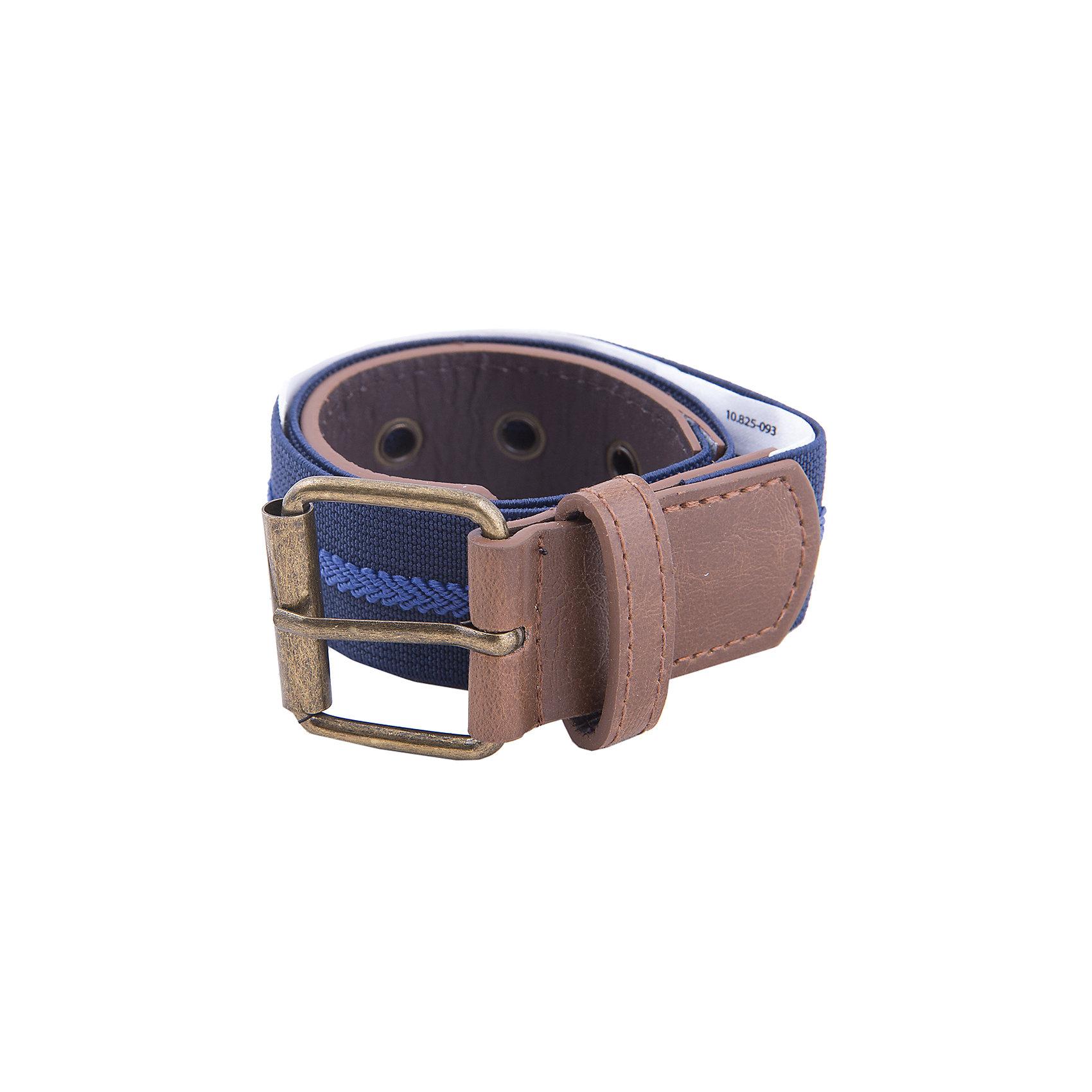 Ремень  для мальчика MayoralАксессуары<br>Ремень для мальчика от популярной испанской марки Mayoral.<br>Модный ремень Mayoral – отличный вариант универсального и стильного аксессуара. Качественный материал обеспечит комфорт при ношении этой вещи. <br>Модель имеет следующие особенности:<br><br>- сочетание текстиля и искусственной кожи;<br>- цвет: синий, коричневый.<br><br>Ремень для мальчика Mayoral (Майорал) можно купить в нашем магазине.<br><br>Ширина мм: 215<br>Глубина мм: 88<br>Высота мм: 191<br>Вес г: 336<br>Цвет: фиолетовый<br>Возраст от месяцев: 84<br>Возраст до месяцев: 96<br>Пол: Мужской<br>Возраст: Детский<br>Размер: 128,92,140,116,104<br>SKU: 4190595