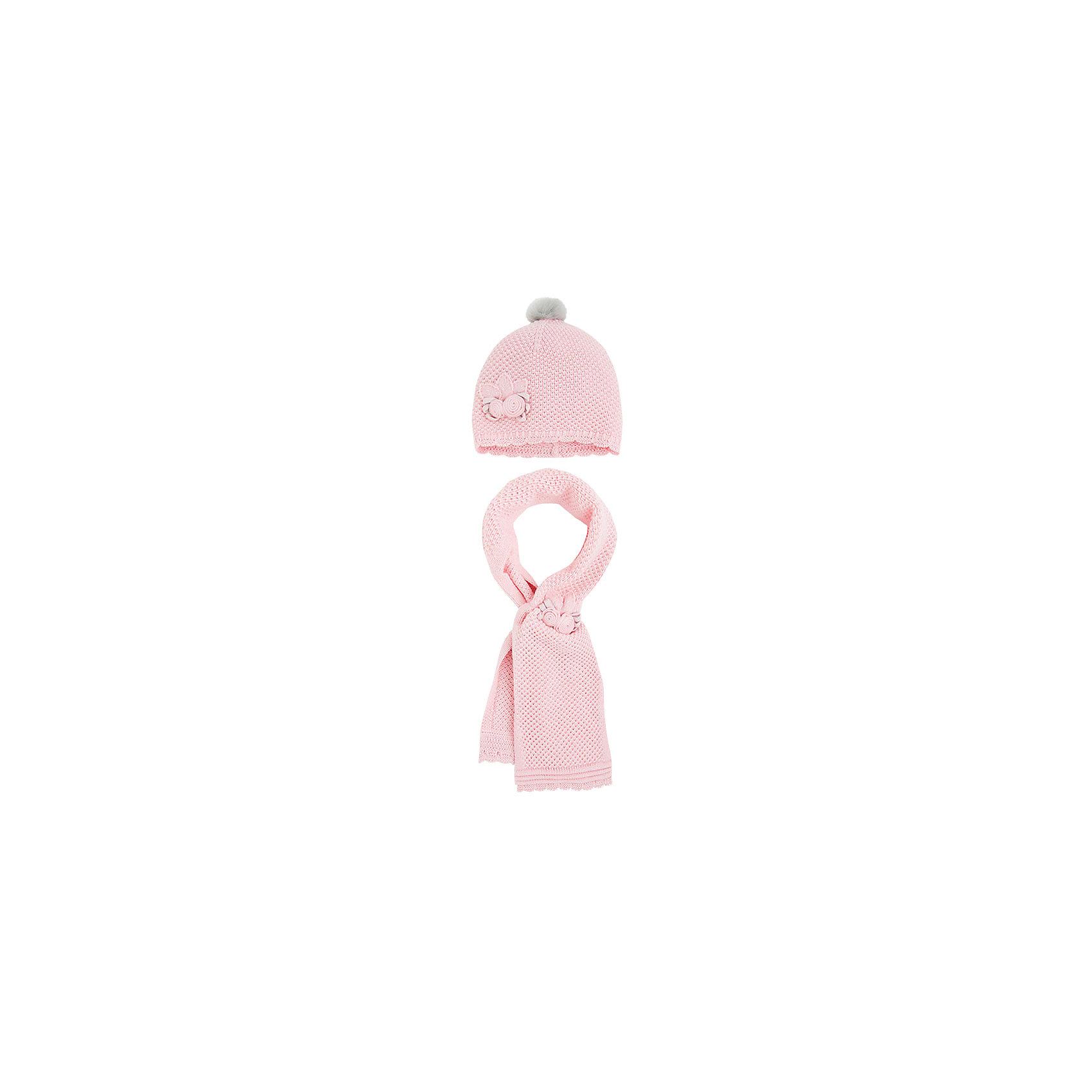 Комплект: шапка и шарф для девочки MayoralКомплект: шапка и шарф для девочки от известной испанской марки Mayoral.<br>Состав:<br><br>Ширина мм: 89<br>Глубина мм: 117<br>Высота мм: 44<br>Вес г: 155<br>Цвет: розовый<br>Возраст от месяцев: 12<br>Возраст до месяцев: 24<br>Пол: Женский<br>Возраст: Детский<br>Размер: 48,50<br>SKU: 4190646