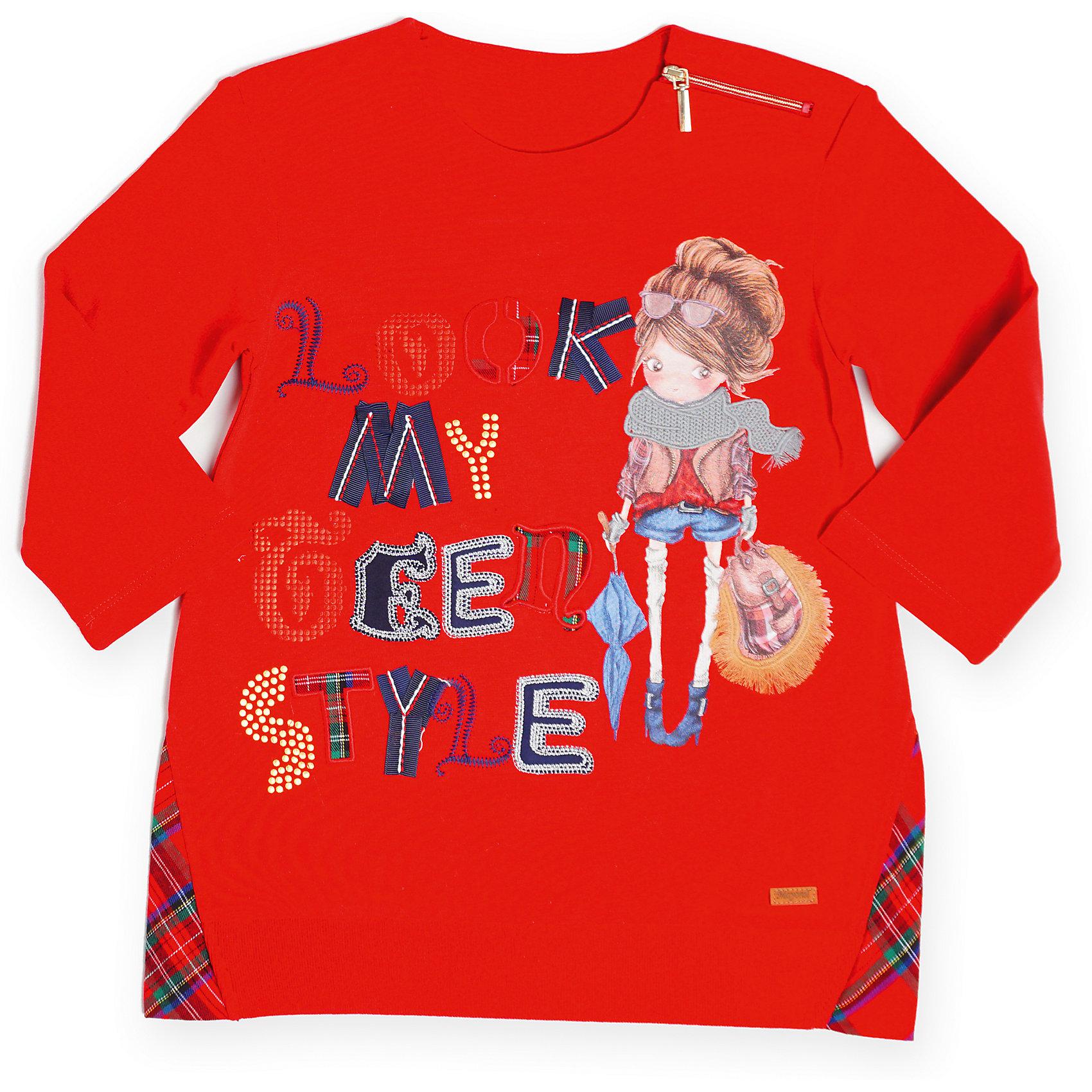 Платье  для девочки MayoralПлатье для девочки от известной испанской марки Mayoral.<br>Стильное трикотажное платье от известного бренда Mayoral поможет девочке создать и повседневный, и нарядный образ. Удобный крой и качественный материал обеспечит ребенку комфорт при ношении этой вещи.<br>Модель имеет следующие особенности:<br><br>- цвет – красный;<br>- принт - девочка и надпись;<br>- принт украшен металлизированными элементами;<br>- круглый вырез;<br>- длинные рукава;<br>- внизу - вставки из клетчатой ткани.<br><br>Состав: 71% хлопок, 3% эластан, 26% полиэстер<br><br>Уход за изделием:<br><br>стирка в машине при температуре до 30°С,<br>не отбеливать,<br>гладить на низкой температуре.<br> <br>Габариты:<br><br>длина по спинке – 35 см.<br><br>*Числовые параметры соответствуют росту 98<br><br>Температурный режим: от +5° С до +25° С<br>Платье для девочки Mayoral (Майорал) можно купить в нашем магазине.<br><br>Ширина мм: 236<br>Глубина мм: 16<br>Высота мм: 184<br>Вес г: 177<br>Цвет: красный<br>Возраст от месяцев: 84<br>Возраст до месяцев: 96<br>Пол: Женский<br>Возраст: Детский<br>Размер: 128,98,122,116,110,104,92,134<br>SKU: 4192107