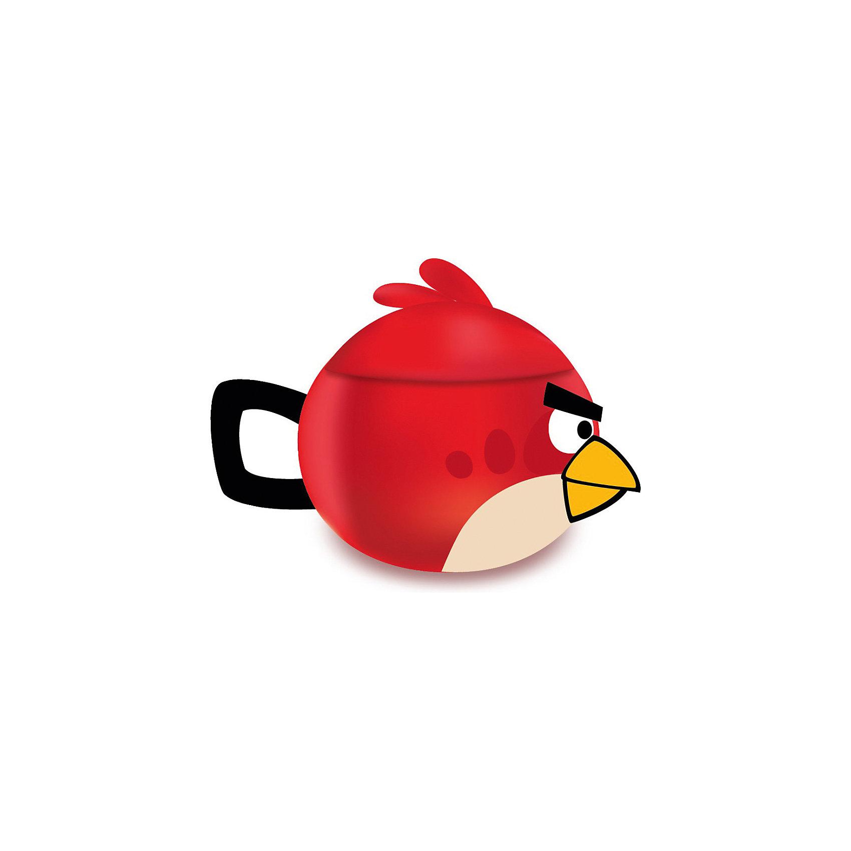 Красная кружка «Angry Birds» с крышкой, 300 мл (доломит)
