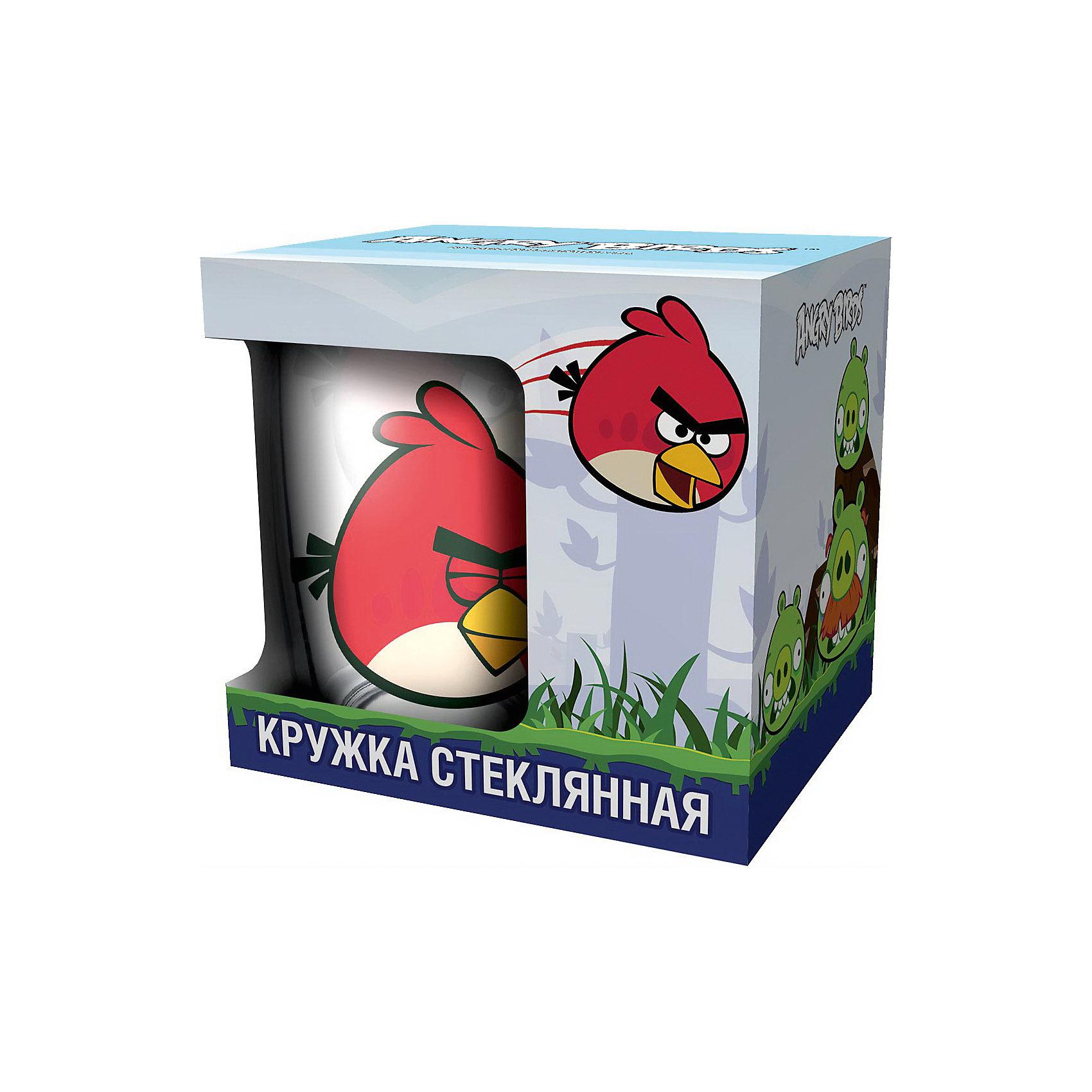 Кружка «Красная птица» 300 мл (стекло), Angry Birds