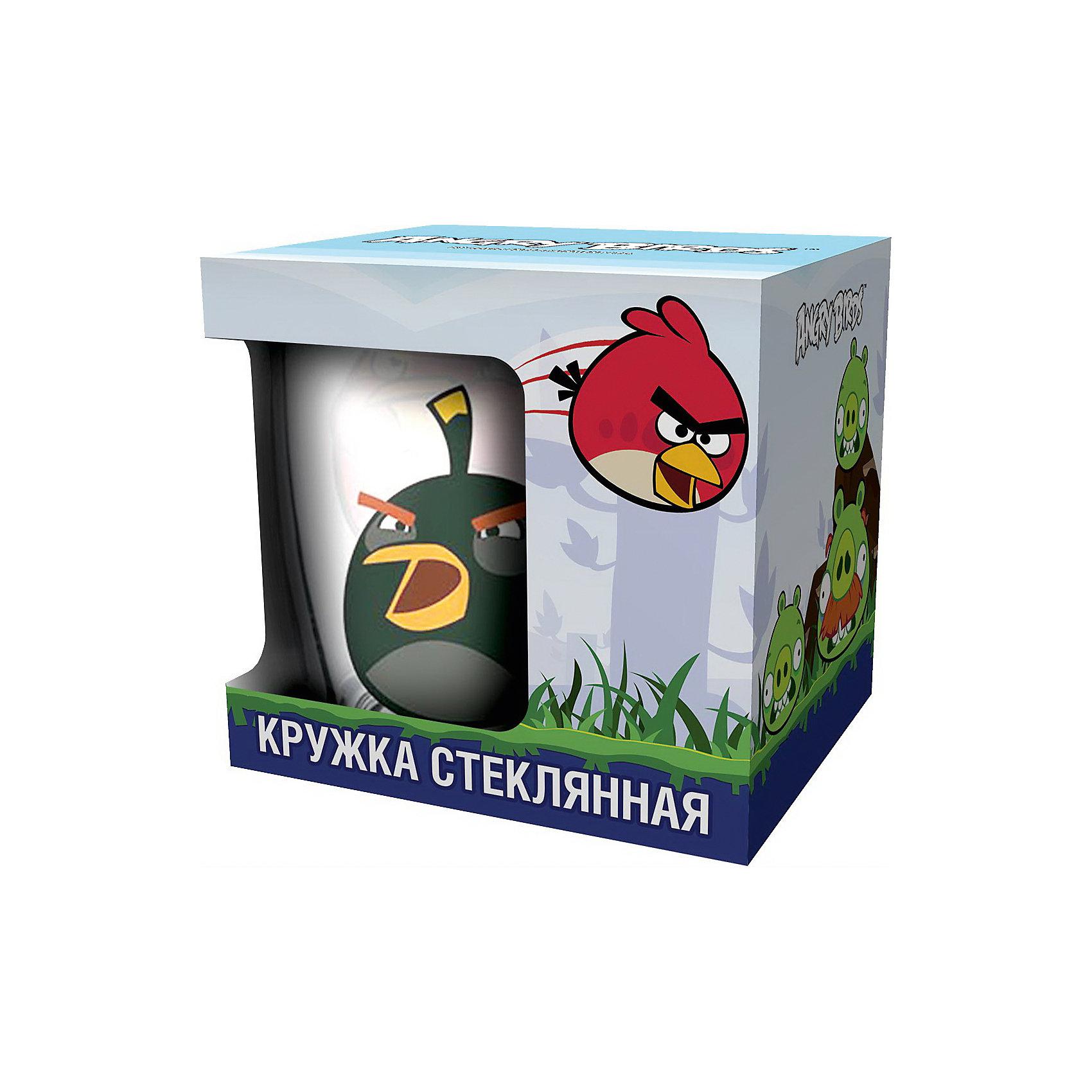 Кружка «Черная птица» 300 мл (стекло), Angry Birds