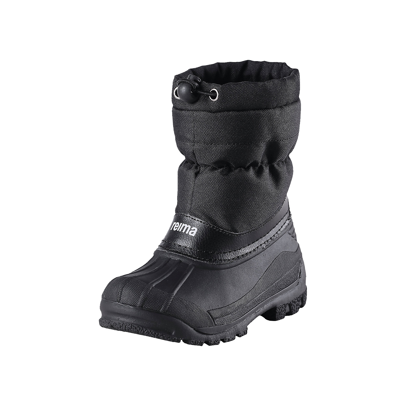 Зимние ботинки Nefar для мальчикаКлассические детские ботинки для снежной погоды от Reima® с подошвой из термопластичного каучука - очень популярная и надёжная зимняя обувь! Ботинки с утеплёнными голенищами великолепно подходят как для игр в снегу, так и для слякотных дождливых дней, потому что галошная часть изготовлена из совершенно водонепроницаемого и прочного термопластичного каучука. Обратите внимание, на рифлёный узор на внешней стороне подошвы спереди каблука: это поможет предотвратить изнашивание штрипок комбинезонов и брюк. Тёплая подкладка из текстиля согреет маленькие ножки во время зимних прогулок по морозу. Ботики легко и быстро надеваются, имеется блокировка от снега на голенище. Благодаря светоотражающей детали на заднике вы сможете видеть ребёнка в темноте.<br><br>Зимние ботинки для мальчика от финской марки Reima.<br>*Классические детские ботики от Reima®<br>*Модель легко надевается <br>*Водоотталкивающий верх из текстиля <br>*Блокировка от снега на голенище <br>*Область галош из термопластичного каучука <br>*Светоотражающая деталь на заднике<br>Состав:<br>Подошва: термопластичная резина, Верх: Полиэстер<br>Средняя степень утепления (до - 20)<br><br>Зимние ботинки для мальчика можно купить в нашем магазине.<br><br>Ширина мм: 262<br>Глубина мм: 176<br>Высота мм: 97<br>Вес г: 427<br>Цвет: черный<br>Возраст от месяцев: 24<br>Возраст до месяцев: 24<br>Пол: Мужской<br>Возраст: Детский<br>Размер: 25,32,27,35,33,31,30,34,29,28,26,24<br>SKU: 4193937