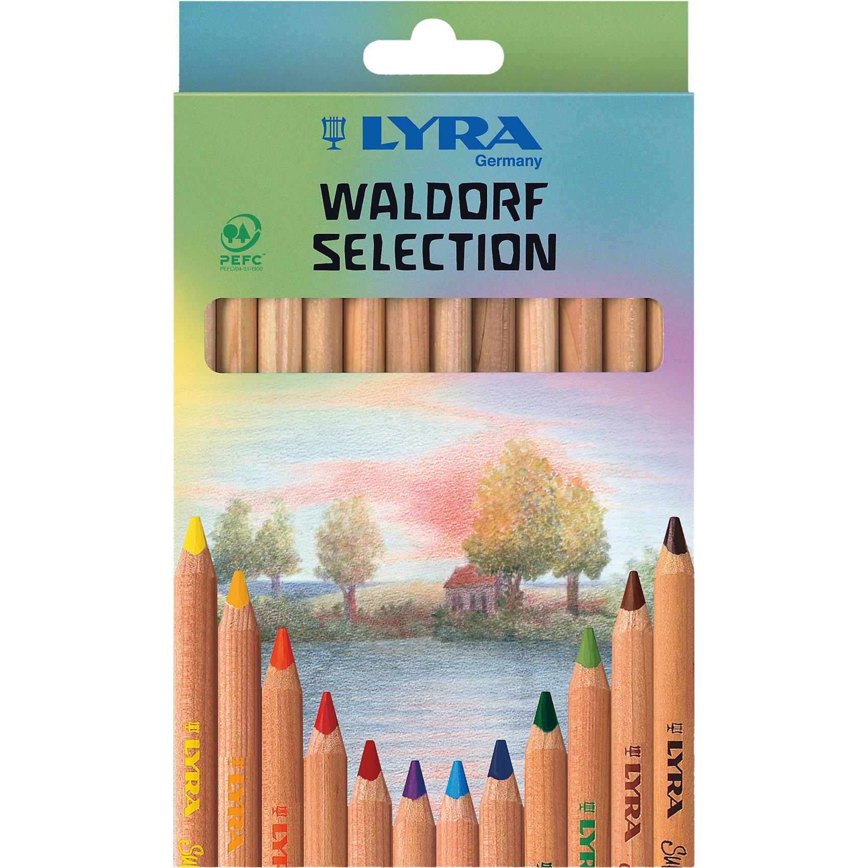Высокопигментные цветные карандаши, 12 шт.Письменные принадлежности<br>Высокопигментные цветные карандаши, 12 шт. Уникальная палитра цветов, разработанная немецкой Вальдорфской школой рисования. Эргономичная треугольная форма. Длина карандаша - 175 мм, диаметр грифеля 6,25 мм. Произведены из натуральной сертифицированной древесины, не лакированные. Ударопрочные.<br><br>Ширина мм: 200<br>Глубина мм: 123<br>Высота мм: 15<br>Вес г: 151<br>Возраст от месяцев: 24<br>Возраст до месяцев: 72<br>Пол: Унисекс<br>Возраст: Детский<br>SKU: 4194380