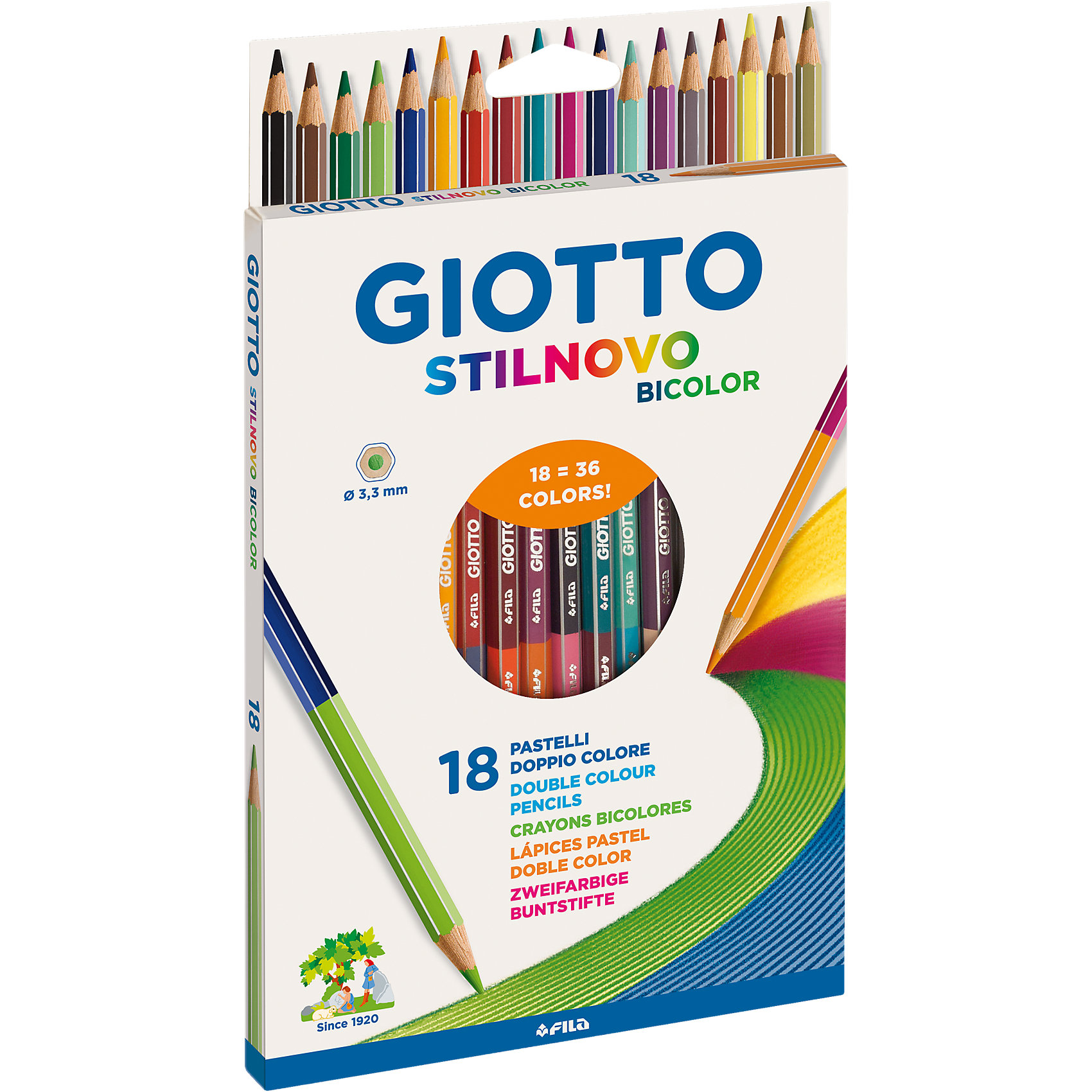 Двухсторонние цветные карандаши, 18 штук, 36 цвета.Письменные принадлежности<br>Двусторонние цветные деревянные карандашии, 18 шт=36 цв. Гексагональной формы. Изготовлены из сертифицированной древесины. Легко и экономично затачиваются, не крошатся. Толщина грифеля - 3,3 мм. Яркие насыщенные цвета, максимально мягкое рисование. На корпусе карандаша имеется место для персонализации. Экономят место в пенале. Идеально подходят для школы.<br><br>Ширина мм: 217<br>Глубина мм: 134<br>Высота мм: 12<br>Вес г: 115<br>Возраст от месяцев: 24<br>Возраст до месяцев: 72<br>Пол: Унисекс<br>Возраст: Детский<br>SKU: 4194384