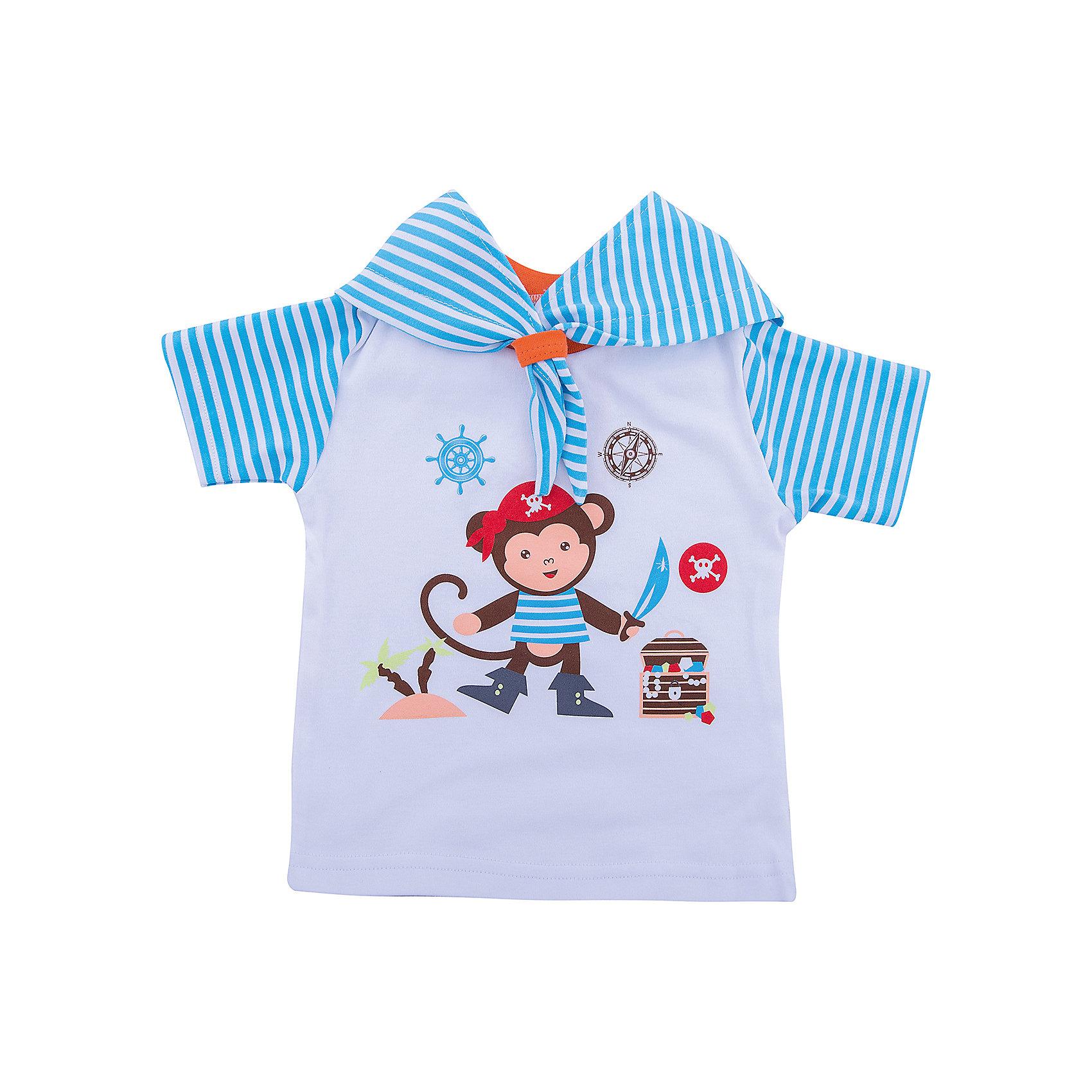КотМарКот Футболка для мальчика КотМарКот котмаркот футболка котмаркот 699033