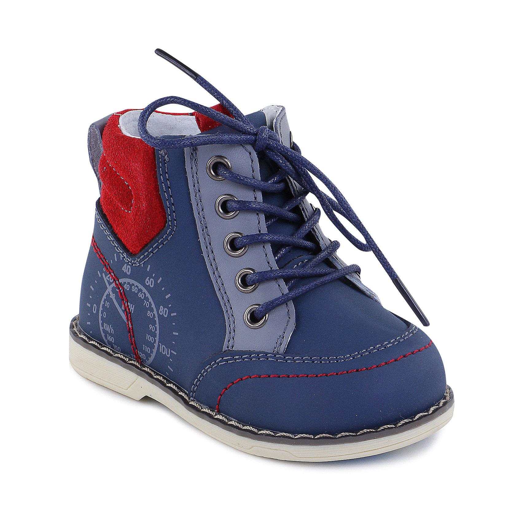 Ботинки для мальчика MURSUБотинки для мальчика от известного финского бренда MURSU - прекрасный вариант для юных модников. Модель оформлена крупной прострочкой по ранту, имеет  с усиленные пятку и нос, завязывается на шнурки или же застегивается на молнию, декорирована рисунком и контрастной отстрочкой. Мягкая вставка сзади препятствует натиранию, ботинки достаточно высокие, хорошо сидят на ноге, подъем и задник имеют ярлычки, помогающие быстро надеть обувь. Ботинки изготовлены из натуральной кожи, прекрасно смотрятся с любой одеждой, очень удобные и практичные.<br><br>Дополнительная информация:<br><br>- Сезон: весна/осень<br>- Тепловой режим: от +5? до +15? <br>- Цвет: синий.<br>- Декоративные элементы: принт, отстрочка.<br>- Рифленая подошва.<br>- Тип застежки: шнурки, молния. <br>- Стелька с супинатором. <br>- Ярлычки на подъеме и заднике.<br><br>Состав:<br><br>- Материал верха: кожа.<br>- Материал подкладки: кожа.<br>- Материал подошвы: TPR.<br>- Материал стельки: кожа.<br><br>Ботинки для мальчика MURSU (Мурсу), можно купить в нашем магазине.<br><br>Ширина мм: 262<br>Глубина мм: 176<br>Высота мм: 97<br>Вес г: 427<br>Цвет: синий<br>Возраст от месяцев: 12<br>Возраст до месяцев: 15<br>Пол: Мужской<br>Возраст: Детский<br>Размер: 21,25,26,22,23,24<br>SKU: 4195782