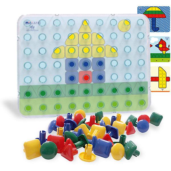 Мозаика Гигант, 64 элемента, 4 этюда, MinilandМозаика<br>Мозаика Гигант, 64 элемента, 4 этюда, Miniland (Миниленд) - это гарантия развлечения и правильного развития Вашего ребенка.<br>Мозаика Гигант от Miniland (Миниленд) - отличная развивающая игрушка для малышей. Яркие крупные детали, минимальная цветовая подборка мозаичных элементов, понятные четкие трафареты для создания рисунка позволят ребенку самостоятельно справиться с задачей, получая удовольствие от игры и приобретая полезные навыки. Игрушка интересна для ребенка и при этом развивает мелкую моторику пальцев рук, координацию движения, воображение, творческие навыки.<br><br>Дополнительная информация:<br><br>- В наборе: панель, 4 шаблона, 64 элемента (круг, квадрат, треугольник и угловые формы)<br>- Цвета: красный, синий, желтый, зеленый<br>- Размер панели: 39 х 36 мм.<br>- Материал: высококачественная пластмасса<br>- Упаковка: коробка с ручкой для удобной транспортировки мозаики<br>- Размер коробки: 38,5 х 31 х 8,5 см.<br>- Вес: 1150 гр.<br><br>Мозаику Гигант, 64 элемента, 4 этюда, Miniland (Миниленд) можно купить в нашем интернет-магазине.<br><br>Ширина мм: 385<br>Глубина мм: 310<br>Высота мм: 85<br>Вес г: 1150<br>Возраст от месяцев: 24<br>Возраст до месяцев: 60<br>Пол: Унисекс<br>Возраст: Детский<br>SKU: 4198172