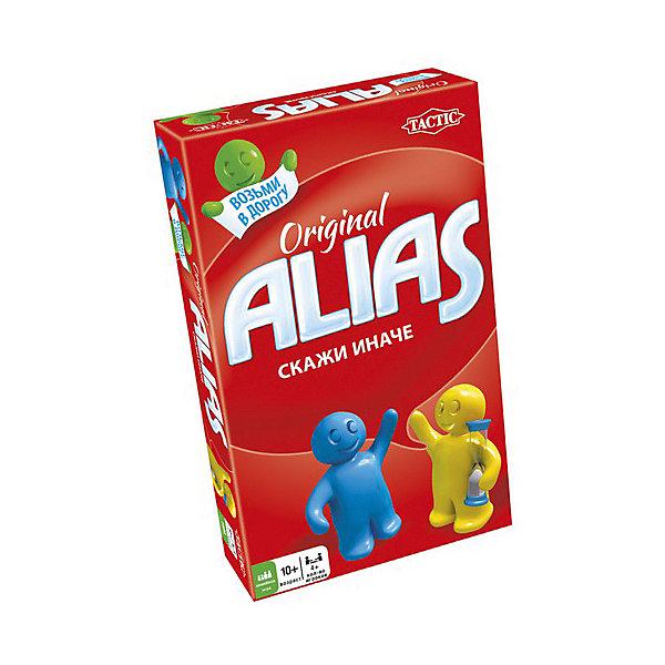 Игра Скажи иначе, компактная версия 2, Tactic GamesИгры в дорогу<br>Игра Скажи иначе(Alias), компактная версия 2, Tactic Games (Тактик Геймс) - это увлекательная захватывающая игра мини-формата.<br>Измененная компактная версия игры Alias в разноцветной коробке с новым дизайном. Настоящее счастье для поклонников развивающей игры «Скажи иначе», ведь эта версия включает в себя новые слова и другое количество карточек, поэтому можно устроить раунд любимой игры со свежими идеями и силами! Компактная версия игры позволит брать ее куда угодно: в любое путешествие, поездку на природу или в гости. Играть можно и при дефиците свободного места, ведь в компактном варианте отсутствует игровое поле и фишки. Теперь не придется искать стол или другую ровную поверхность для игры. Объясняйте и показывайте слова с помощью подсказок, особых фигур речи и других заданий, выполняя которые, вы будете тренировать работу мозга и улучшать словарный запас. Играйте всей семьей, развивайте эрудицию, скорость реакции, воображение и сообразительность. Веселитесь от души! Все детали игры безопасны и сделаны из материалов высокого качества.<br><br>Дополнительная информация:<br><br>- В комплекте: 50 двусторонних карточек со словами, песочные часы для отсчета времени хода, игровой блокнот, карандаш, подробные правила на русском языке<br>- Количество игроков: от 4 человек<br>- Возраст: от 10 лет и старше<br>- Время игры: более 30 мин.<br>- Материал: картон, пластик<br>- Размер коробки: 11 х 18 х 3,6 см.<br>- Вес: 191 гр.<br><br>Игру Скажи иначе, компактная версия 2, Tactic Games (Тактик Геймс) можно купить в нашем интернет-магазине.<br><br>Ширина мм: 110<br>Глубина мм: 180<br>Высота мм: 36<br>Вес г: 191<br>Возраст от месяцев: 120<br>Возраст до месяцев: 216<br>Пол: Унисекс<br>Возраст: Детский<br>SKU: 4200146