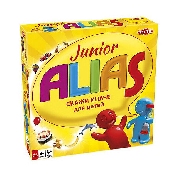 Игра Скажи иначе для малышей, версия 2, Tactic GamesНастольные игры для всей семьи<br>Игра Скажи иначе (Alias) для малышей, версия 2, Tactic Games (Тактик Геймс) – эта увлекательная игра станет веселым развлечением для малышей.<br>Это обновленная версия любимой игры Alias (Скажи иначе), развивающей сообразительность, скорость реакции, внимательность и значительно улучшающая словарный запас и речь малышей. Новый дизайн коробочки стал еще удобнее и красочнее! В этой версии развивающей игры появились новые увлекательные задания и слова для разгадывания. Особенность данной версии заключается в том, что слова на карточках не только написаны, но и изображены, это позволяет играть в нее даже детям, которые еще не умеют читать. Сложность заданий подобрана таким образом, чтобы самый маленький участник смог как объяснить, так и угадать слово, изображенное на карточке. Дети с удовольствием поиграют в Alias (Скажи иначе), настольная игра надолго увлечет юных эрудитов. Малышам нравится выигрывать, поэтому они с огромным рвением будут выполнять задания и зарабатывать очки для своей команды. Например, предстоит объяснить слово, используя антонимы и синонимы или звукоподражание. Кажется все так-то просто, но песок в песочных часах неумолимо просыпается вниз! Играйте вместе с малышами и веселитесь от души! Все детали игры безопасны и сделаны из материалов высокого качества.<br><br>Дополнительная информация:<br><br>- В комплекте настольной игры: игровое поле, карточки-задания (250 шт.), 6 игральных фишек, песочные часы для отсчета времени хода, подробные правила на русском языке<br>- Количество игроков: от 4 человек<br>- Возраст: от 5 лет и старше<br>- Время игры: более 30 мин.<br>- Материал: картон, пластик<br>- Размер коробки: 25 х 25 х 6,2 см.<br>- Вес: 892 гр.<br><br>Игру Скажи иначе для малышей, версия 2, Tactic Games (Тактик Геймс) можно купить в нашем интернет-магазине.<br>Ширина мм: 250; Глубина мм: 250; Высота мм: 62; Вес г: 892; Возраст от месяцев: 60; Возраст до месяцев: 1
