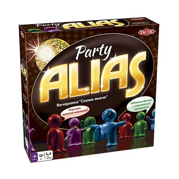 Игра для вечеринки Скажи иначе, версия 2, Tactic GamesНастольные игры для всей семьи<br>Игра для вечеринки Скажи иначе (Alias), версия 2, Tactic Games (Тактик Геймс) - захватывающая игра превратит обычную встречу в незабываемый вечер.<br>Если вы думаете, чем заняться во время дружеской встречи, не сомневайтесь — настольная игра «Скажи иначе. Вечеринка»-2 увлечет всех участников и сделает время реактивным. Не забывайте поглядывать иногда на часы во время игры, вдруг уже рассвет? Эта новая версия игры, которая отличается от старой количеством карточек-заданий, а также наличием новых слов. Если вы уже являетесь поклонником Alias и много раз играли в нее, то вторая версия игры станет настоящей находкой! Запас из 3200 слов не даст соскучиться ни детям, ни взрослым. Это совершенно универсальная игра, способная собрать вокруг себя людей разных поколений и сделать так, чтобы интересно было всем без исключения. От обычной версии, игра для вечеринки отличается наличием особенных карточек с изображениями известных людей, которых тоже предстоит показать. Помимо прочего, вас ждут такие задания, как, например, продемонстрировать разные эмоции, а еще вы можете внести в карточки от руки имена друзей и других знаменитостей, сделав игру еще интереснее и веселее! Делитесь на команды, придумывайте призы и наслаждайтесь победой! Игра научит детей логическому мышлению, улучшит воображение, общую моторику, пополнит словарный запас. Все детали игры безопасны и сделаны из материалов высокого качества.<br><br>Дополнительная информация:<br><br>- В комплекте настольной игры: красочное игровое поле с вращающейся стрелкой, карточки-задания (300 шт.), фишки (6 шт.) и песочные часы для отсчета времени хода, правила игры<br>- Количество игроков: от 4 человек<br>- Возраст: от 12 лет и старше<br>- Время игры: более 45 мин.<br>- Материал: картон, пластик<br>- Размер коробки: 25 х 25 х 6,2 см.<br>- Вес: 1038 гр.<br><br>Игру для вечеринки Скажи иначе, версия 2, Tactic Games (Тактик Геймс) можно купить в