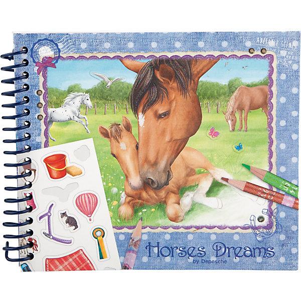 Карманная раскраска Horses Dreams, Creative StudioРаскраски по номерам<br>Карманная раскраска Horses Dreams, Creative Studio<br><br>Характеристики:<br><br>• В комплекте: раскраска, 1 лист с наклейками <br>• Возраст: от 3 до 6 лет<br>• Количество страниц: 35<br>• Альбомный формат<br>• Крепление: на спирали<br><br>Небольшая карманная раскраска поможет занять ребенка в дороге. В ней 30 листов интересных картинок, которые малыш сможет раскрасить. Также дополнительно идет 5 примеров от профессиональных художников и целый лист с наклейками, которые точно помогут разнообразить работу малыша. <br><br>Карманная раскраска Horses Dreams, Creative Studio можно купить в нашем интернет-магазине.<br><br>Ширина мм: 125<br>Глубина мм: 155<br>Высота мм: 15<br>Вес г: 124<br>Возраст от месяцев: 60<br>Возраст до месяцев: 108<br>Пол: Женский<br>Возраст: Детский<br>SKU: 4200190