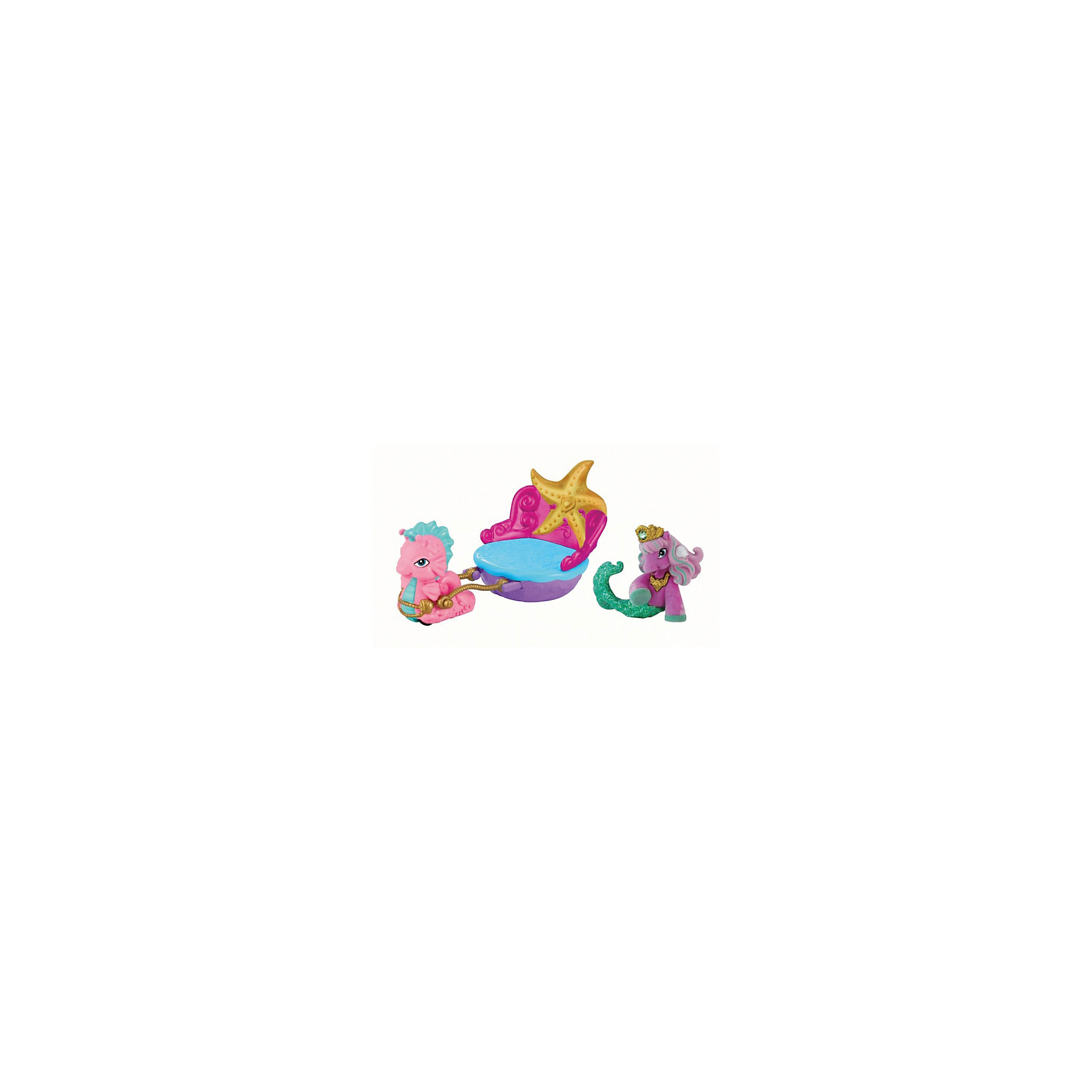 Набор игровой Подводный экипаж, Filly РусалочкиКоллекционные и игровые фигурки<br>Набор игровой Подводный экипаж, Filly Русалочки – этот очаровательный игровой набор не оставит равнодушной ни одну девочку!<br>Набор игровой Filly Русалочки Подводный экипаж станет самым желанным подарком для любой маленькой девочки, которая любит играть с лошадками-русалками Filly живущими под водой в стране Коралии. Необычная морская карета-сидение сделана в виде раковины, выглядит по-царски: у нее роскошная узорчатая спинка, обрамленная золотом. Это настоящий праздничный транспорт для любимой лошадки-русалки Filly. Лошадка-русалка с шикарным хвостом сможет путешествовать по Коралии и навещать своих подруг и друзей! Карета управляется с помощью милого морского конька, который с удовольствием будет везти лошадку к назначенному пункту. Яркий набор подарит играм юной принцессы новые сценарии, что отлично скажется на воображении, фантазии и мелкой моторике. Фигурка лошадки-русалочки сделана из высококачественного пластика и покрыта мягким флоком. Все детали, из которых сделаны игрушки, прочны и безопасны, а их высокое качество прошло строгий контроль.<br><br>Дополнительная информация:<br><br>- В наборе: лошадка, питомец, карета<br>- Материал: пластик, флок<br>- Размер упаковки: 27,5 х 10 х 9 см.<br>- Вес: 200 гр.<br><br>Набор игровой Подводный экипаж, Filly (Филли) Русалочки можно купить в нашем интернет-магазине.<br><br>Ширина мм: 275<br>Глубина мм: 100<br>Высота мм: 90<br>Вес г: 200<br>Возраст от месяцев: 36<br>Возраст до месяцев: 84<br>Пол: Женский<br>Возраст: Детский<br>SKU: 4201455