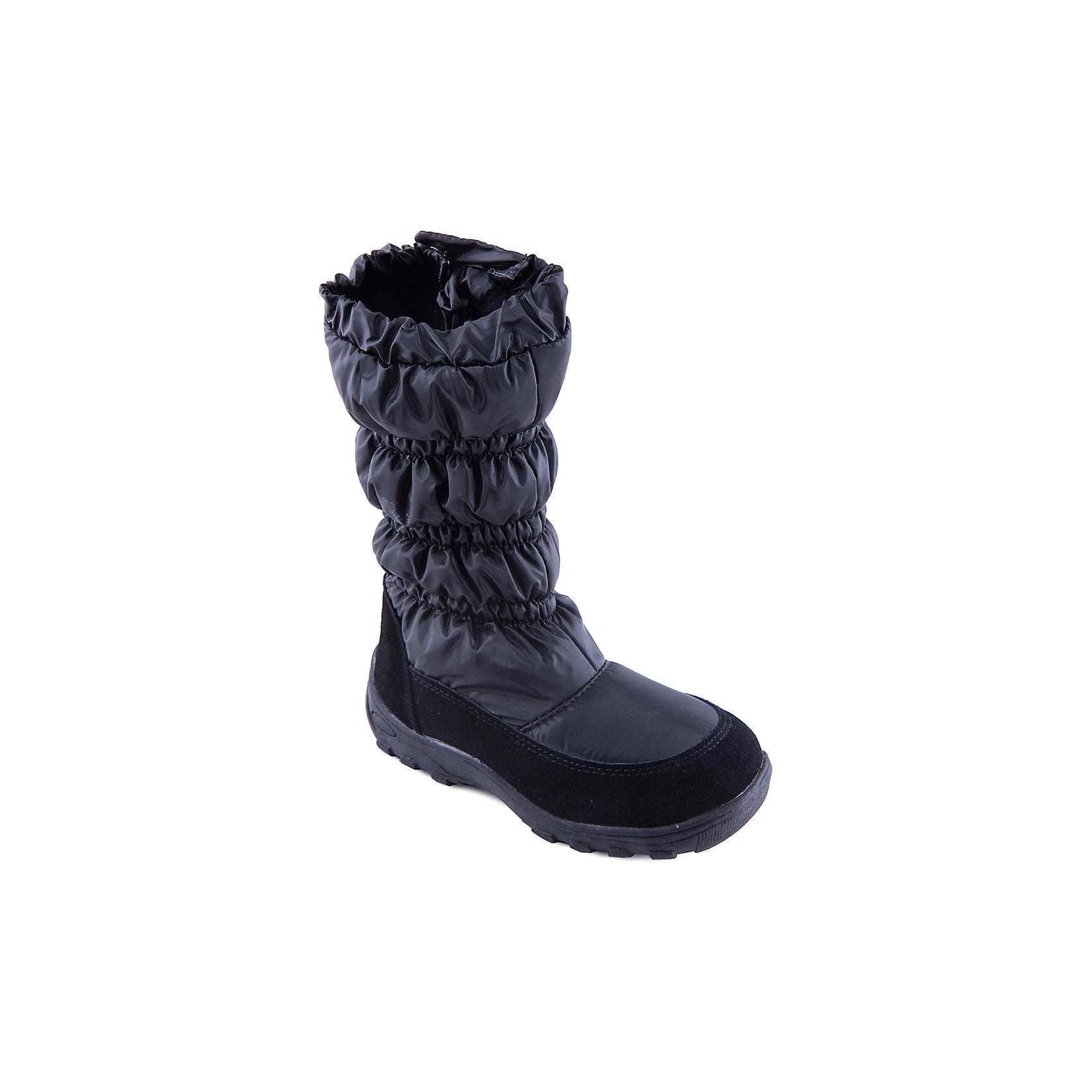 Дутики для девочки MursuОбувь<br>Стильные сапоги от известного бренда MURSU порадуют всех юных модниц. Модель имеет антискользящую подошву, выполнена из высококачественных материалов, очень хорошо смотрится на ноге. Сапоги застегиваются на молнию и кнопку.  Прекрасный вариант на холодную погоду. <br><br>Дополнительная информация:<br><br>- Сезон: зима/осень.<br>- Тепловой режим: от -5? до -20? <br>- Цвет: черный.<br>- Рифленая подошва.<br>- Тип застежки: молния, кнопка. <br><br>Состав:<br>- Материал верха: текстиль/ искусственная замша.<br>- Материал подкладки: искусственная шерсть.<br>- Материал подошвы: TEP.<br>- Материал стельки: искусственная шерсть.<br><br>Сапоги для девочки MURSU (Мурсу) можно купить в нашем магазине.<br><br>Ширина мм: 257<br>Глубина мм: 180<br>Высота мм: 130<br>Вес г: 420<br>Цвет: черный<br>Возраст от месяцев: 120<br>Возраст до месяцев: 132<br>Пол: Женский<br>Возраст: Детский<br>Размер: 34,37,36,35,33,32<br>SKU: 4202429