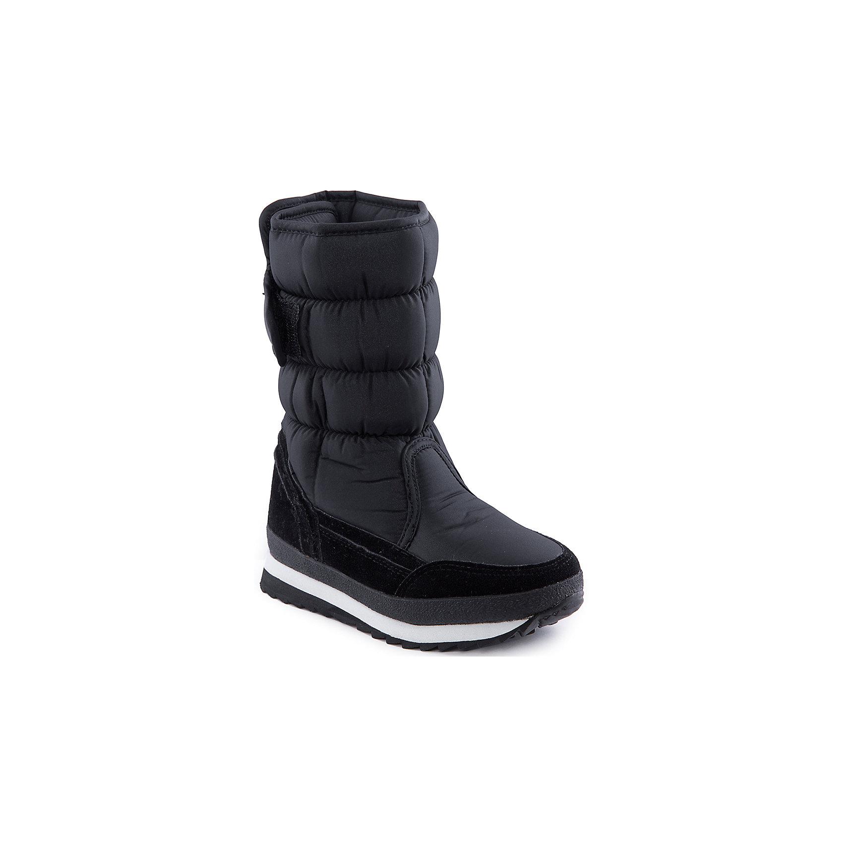Сапоги для девочки MURSUСтильные сапоги от известного бренда MURSU порадуют всех юных модниц. Модель имеет толстую подошву, отлично защищающую ноги от холода, выполнена из высококачественных материалов, очень хорошо смотрится на ноге.   Прекрасный вариант на холодную погоду. <br><br>Дополнительная информация:<br><br>- Сезон: зима/осень.<br>- Тепловой режим: от -5? до -25? <br>- Цвет: черный.<br>- Рифленая подошва.<br>- Тип застежки: липучка. <br><br>Состав:<br>- Материал верха: текстиль/ искусственная замша.<br>- Материал подкладки: искусственная шерсть.<br>- Материал подошвы: TEP.<br>- Материал стельки: искусственная шерсть.<br><br>Сапоги для девочки MURSU (Мурсу) можно купить в нашем магазине.<br><br>Ширина мм: 257<br>Глубина мм: 180<br>Высота мм: 130<br>Вес г: 420<br>Цвет: черный<br>Возраст от месяцев: 96<br>Возраст до месяцев: 108<br>Пол: Женский<br>Возраст: Детский<br>Размер: 33,35,36,32,37,34<br>SKU: 4202569