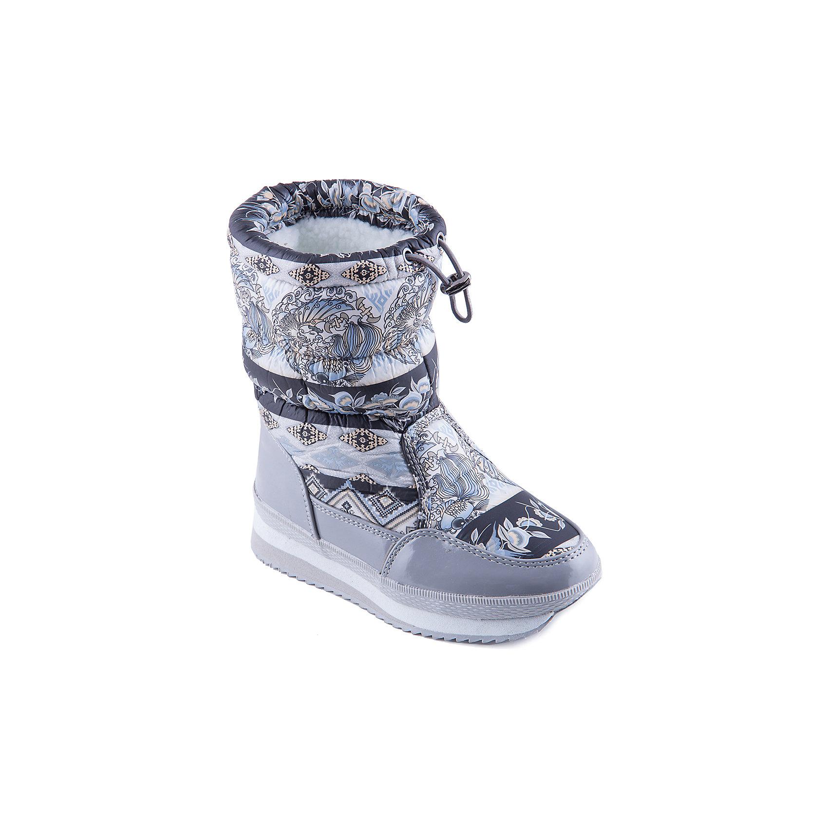 Дутики для девочки MursuДутики<br>Стильные сапоги от известного бренда MURSU порадуют всех юных модниц. Модель имеет толстую подошву, отлично защищающую ноги от холода, выполнена из высококачественных материалов, очень хорошо смотрится на ноге. Прекрасный вариант на холодную погоду. <br><br>Дополнительная информация:<br><br>- Сезон: зима/осень.<br>- Тепловой режим: от -5? до -25? <br>- Цвет: серый, белый. <br>- Рифленая подошва.<br>- Тип застежки: утяжка. <br><br>Состав:<br>- Материал верха: текстиль/ искусственная замша.<br>- Материал подкладки: искусственная шерсть.<br>- Материал подошвы: TEP.<br>- Материал стельки: искусственная шерсть.<br><br>Сапоги для девочки MURSU (Мурсу) можно купить в нашем магазине.<br><br>Ширина мм: 257<br>Глубина мм: 180<br>Высота мм: 130<br>Вес г: 420<br>Цвет: серый<br>Возраст от месяцев: 96<br>Возраст до месяцев: 108<br>Пол: Женский<br>Возраст: Детский<br>Размер: 32,37,36,34,33,35<br>SKU: 4202582