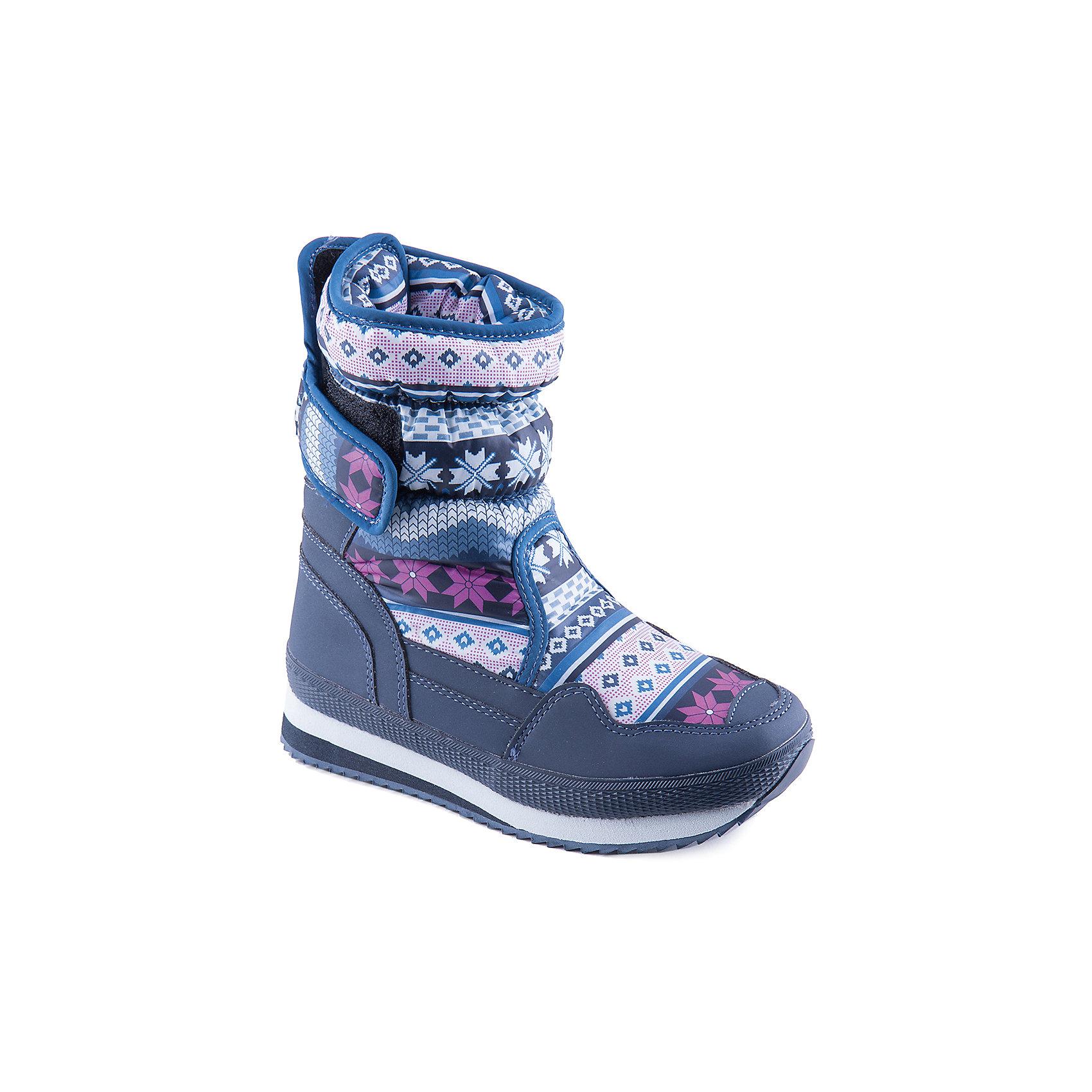 Сапоги для девочки MURSUСтильные сапоги от известного бренда MURSU порадуют всех юных модниц. Модель имеет толстую подошву, отлично защищающую ноги от холода, выполнена из высококачественных материалов, очень хорошо смотрится на ноге.   Прекрасный вариант на холодную погоду. <br><br>Дополнительная информация:<br><br>- Сезон: зима/осень.<br>- Тепловой режим: от -5? до -25? <br>- Рифленая подошва.<br>- Тип застежки: липучка. <br>- Декоративные элементы: принт, отстрочка.<br><br>Состав:<br>- Материал верха: текстиль/ искусственная замша.<br>- Материал подкладки: искусственная шерсть.<br>- Материал подошвы: TEP.<br>- Материал стельки: искусственная шерсть.<br><br>Сапоги для девочки MURSU (Мурсу) можно купить в нашем магазине.<br><br>Ширина мм: 257<br>Глубина мм: 180<br>Высота мм: 130<br>Вес г: 420<br>Цвет: синий<br>Возраст от месяцев: 144<br>Возраст до месяцев: 156<br>Пол: Женский<br>Возраст: Детский<br>Размер: 36,32,37,34,33,35<br>SKU: 4202589